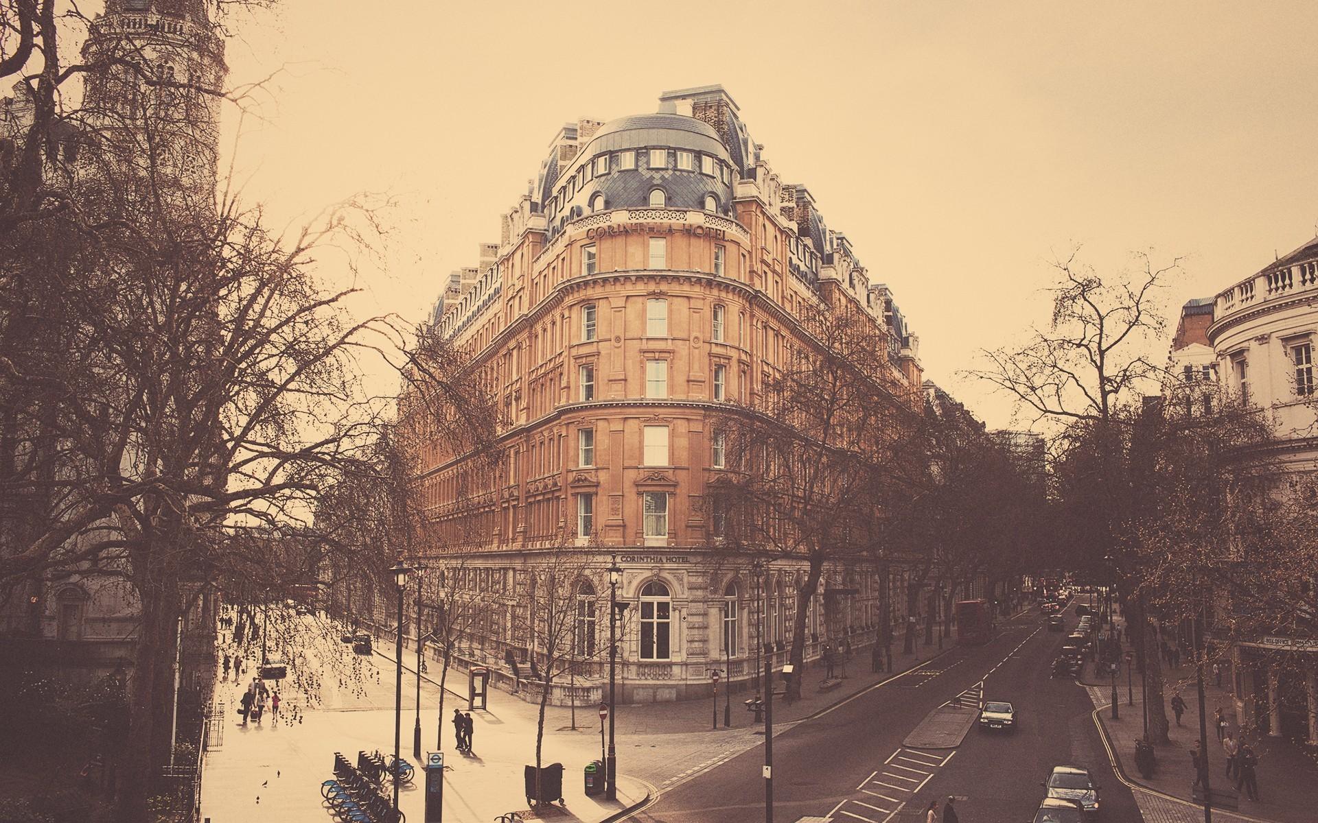 General 1920x1200 London street cityscape low saturation building