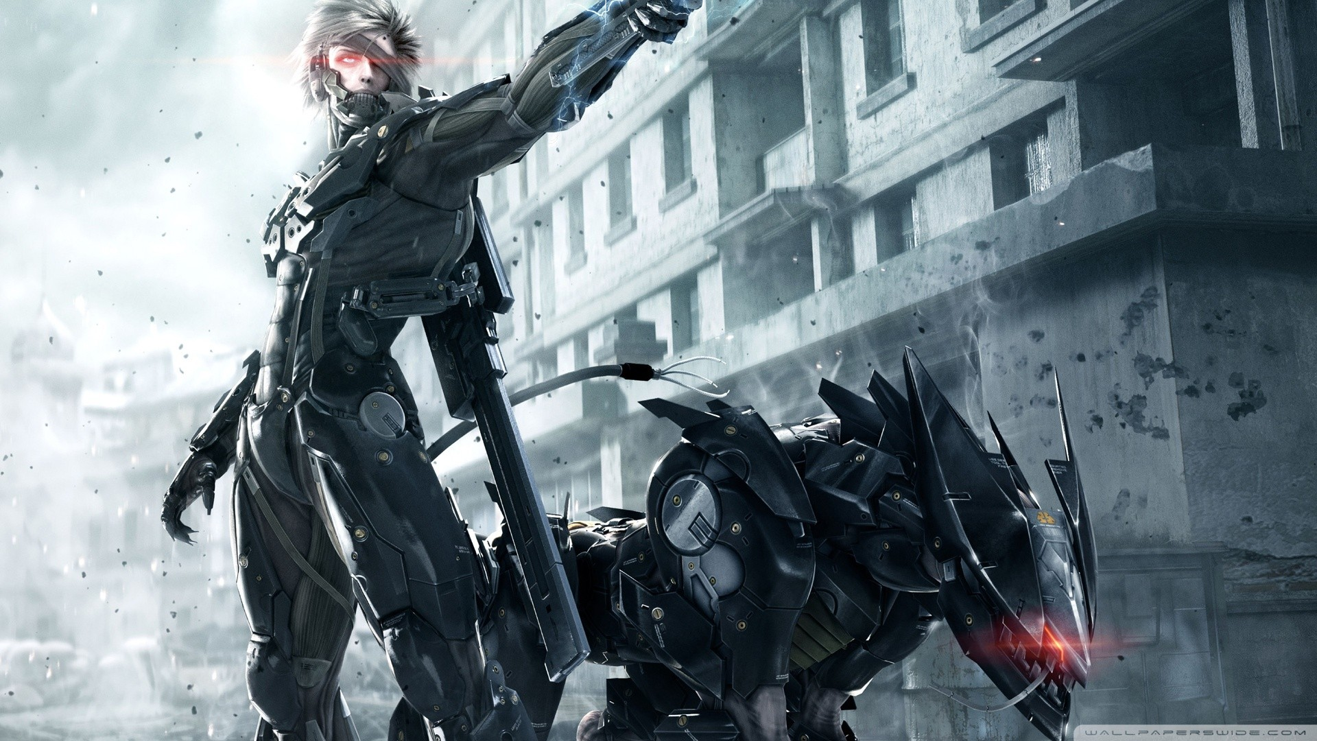 General 1920x1080 Metal Gear Rising: Revengeance futuristic Raiden Blade Wolf 2013 (Year) video game art video games science fiction