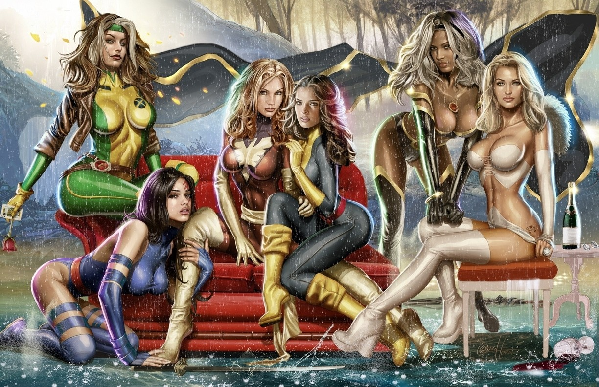 General 1224x792 Psylocke Emma Frost Jean Grey Storm (character) phoenix X-Men Rogue (character) Kitty Pryde