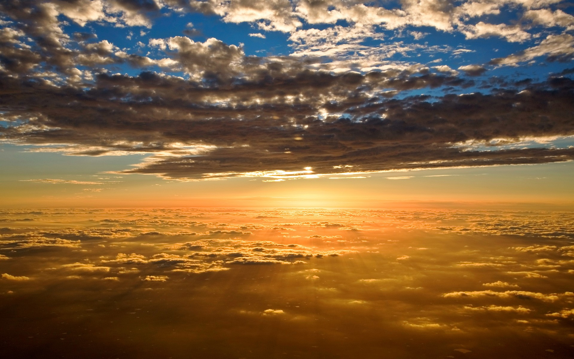 General 1920x1200 clouds sun rays sky horizon sunlight nature