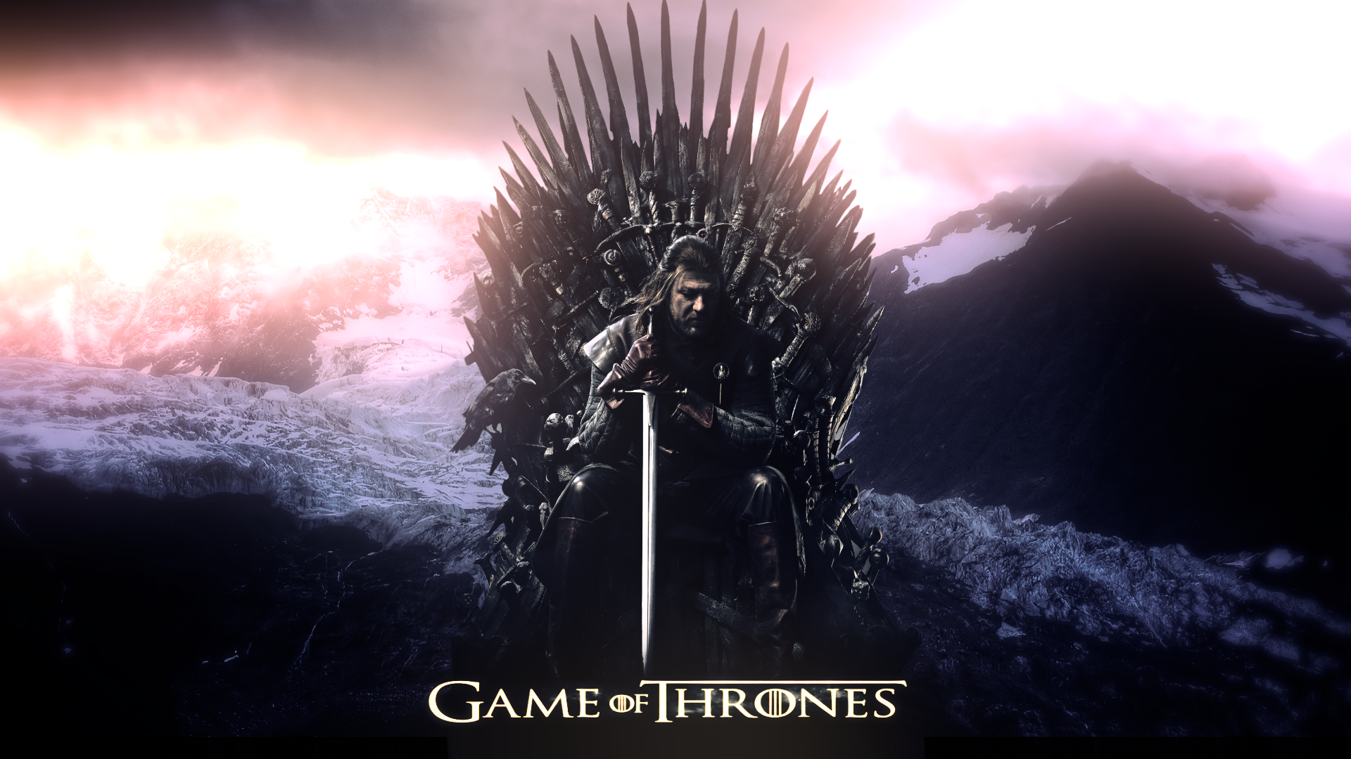 General 1920x1080 TV Series Game of Thrones Ned Stark Sean Bean Iron Throne