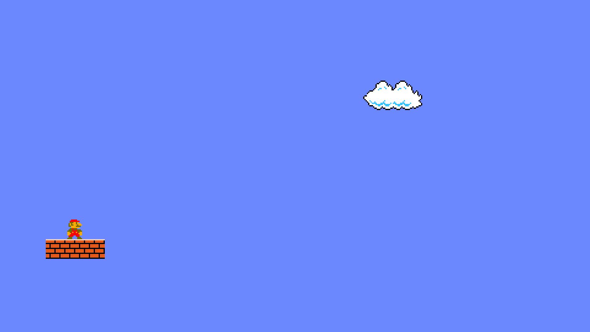 General 1920x1080 Mario Bros. Nintendo video games minimalism pixels pixel art digital art video game art Super Mario Bros.