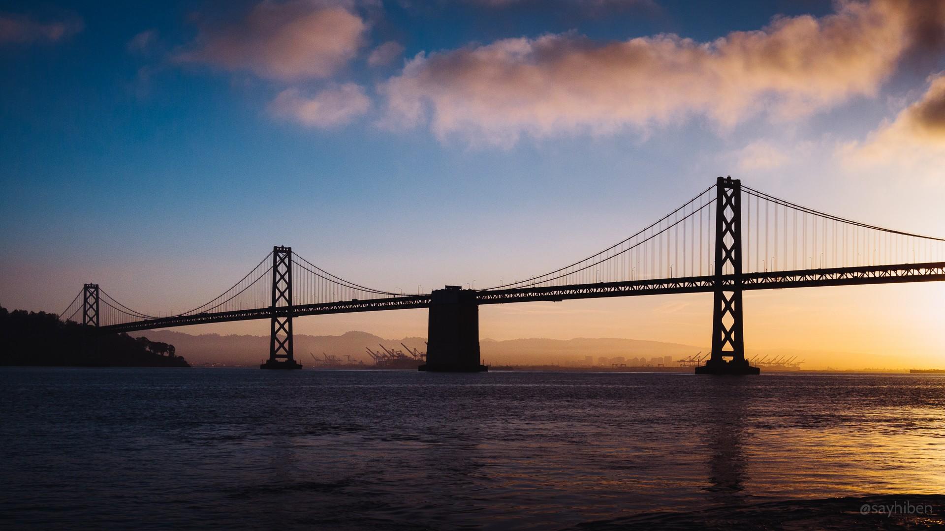 General 1920x1080 San Francisco Bay Bridge bridge clouds sea