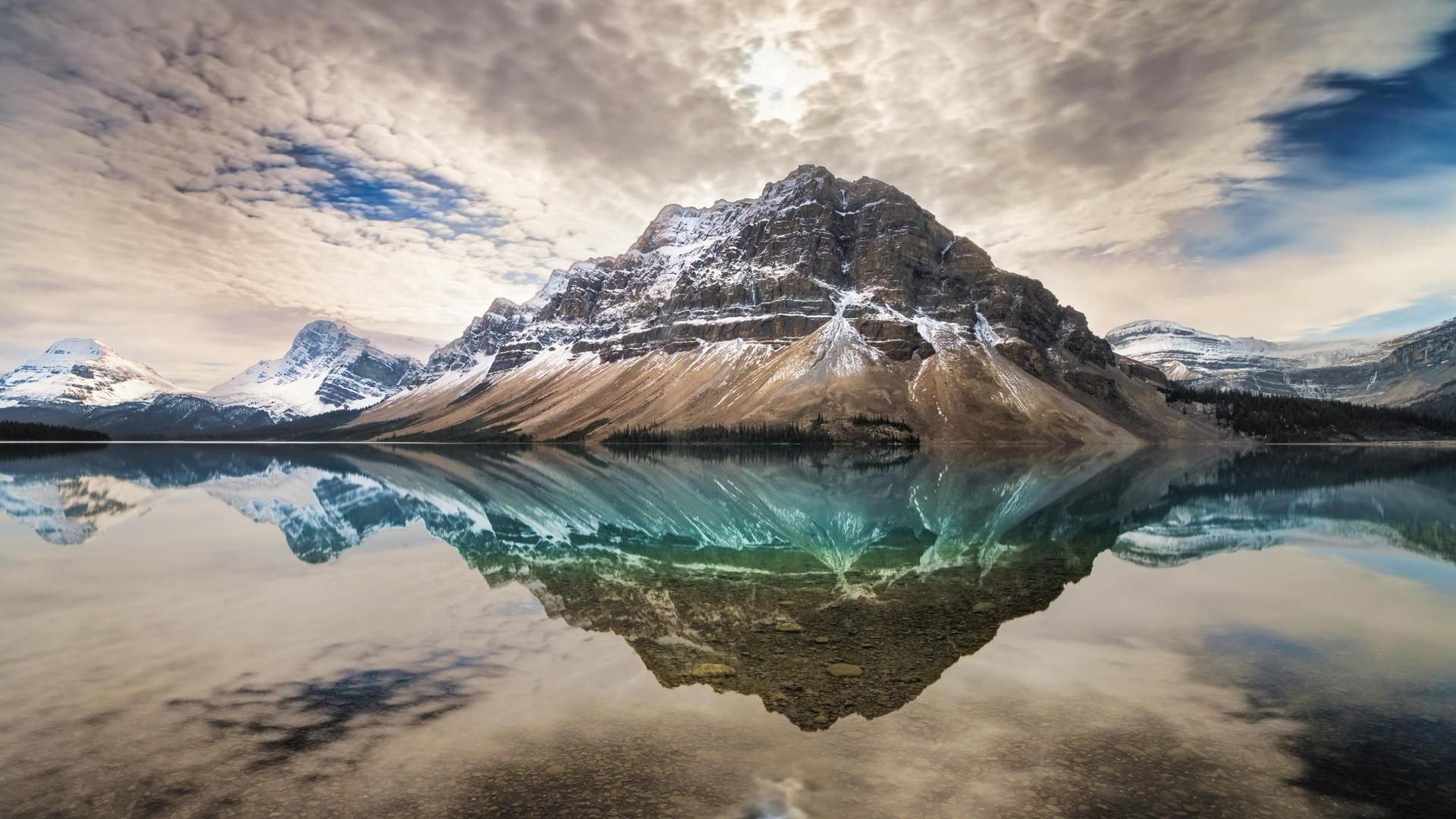 General 1920x1080 landscape nature Canada mountains reflection Bow Lake nordic landscapes Banff National Park