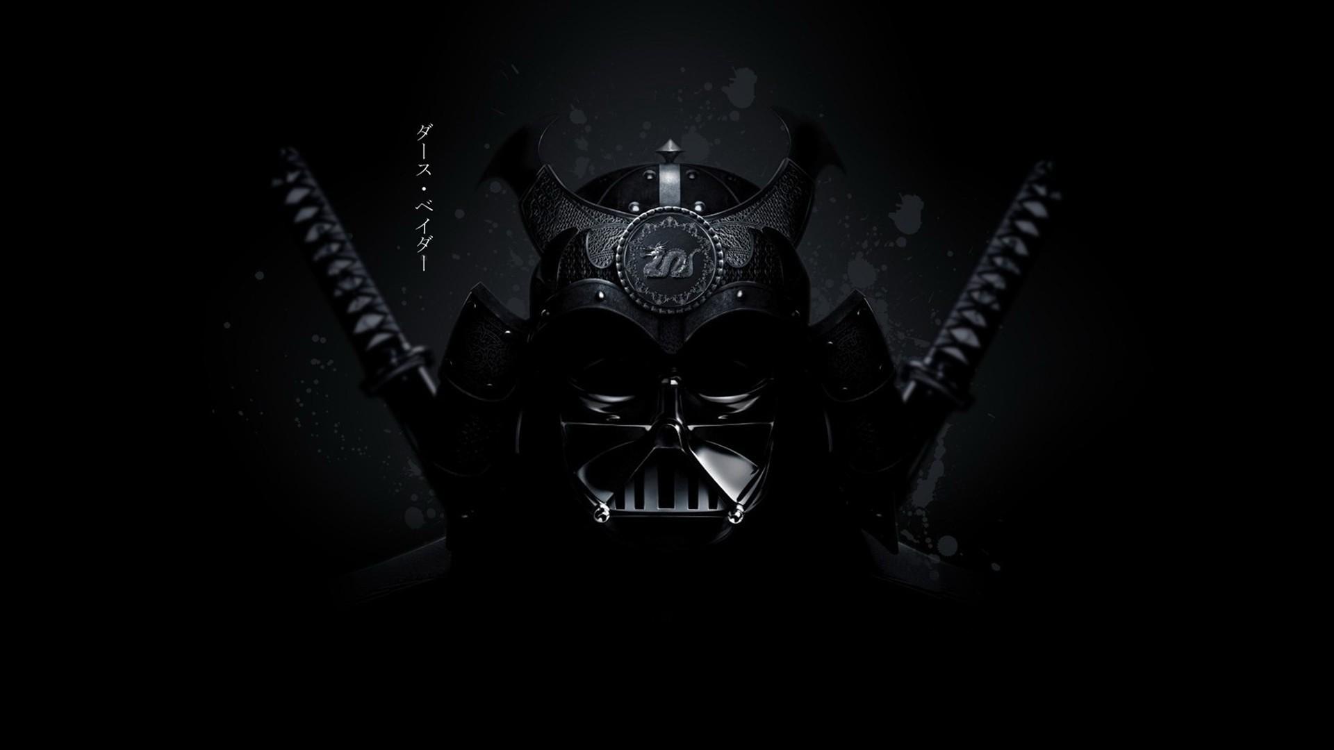 General 1920x1080 Star Wars katana samurai Darth Vader black background Star Wars Villains