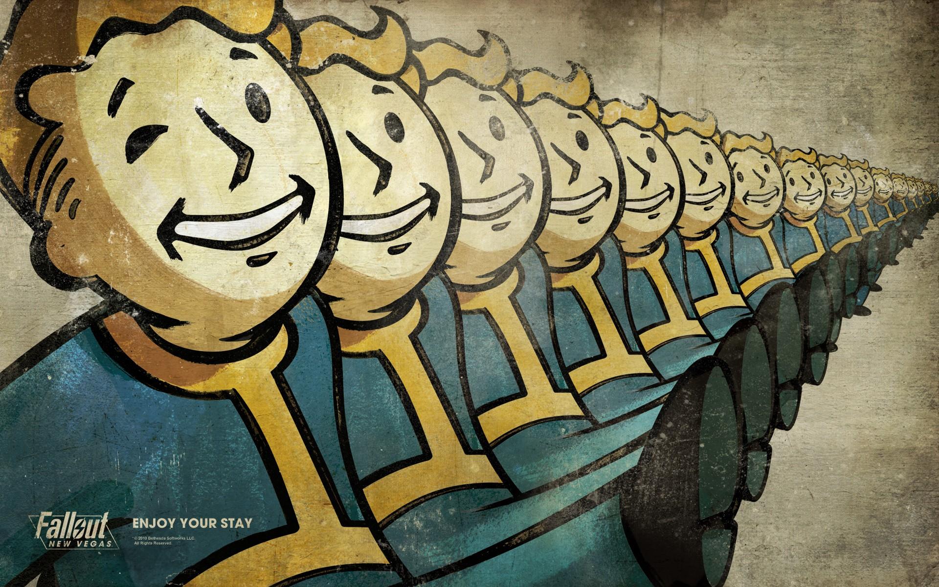 General 1920x1200 Fallout Vault Boy drains Fallout: New Vegas