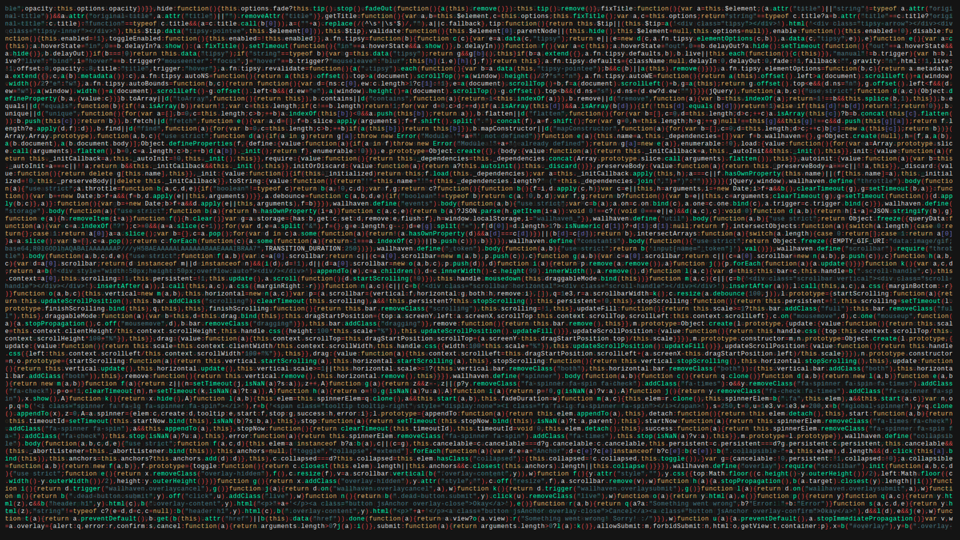 General 1920x1080 code programming programming language JavaScript colorful simple background wallhaven minified syntax highlighting