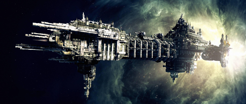 General 3000x1268 space science fiction spaceship Warhammer 40,000 Battlefleet gothic Imperium of Man