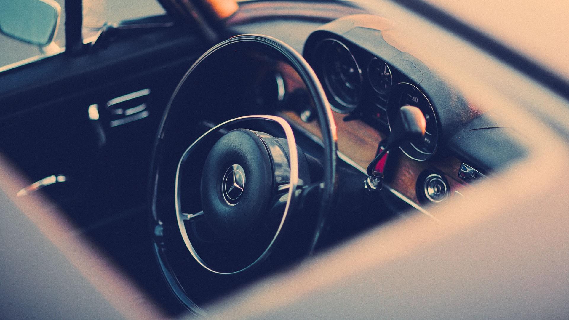 General 1920x1080 car old car Mercedes-Benz high angle car interior steering wheel