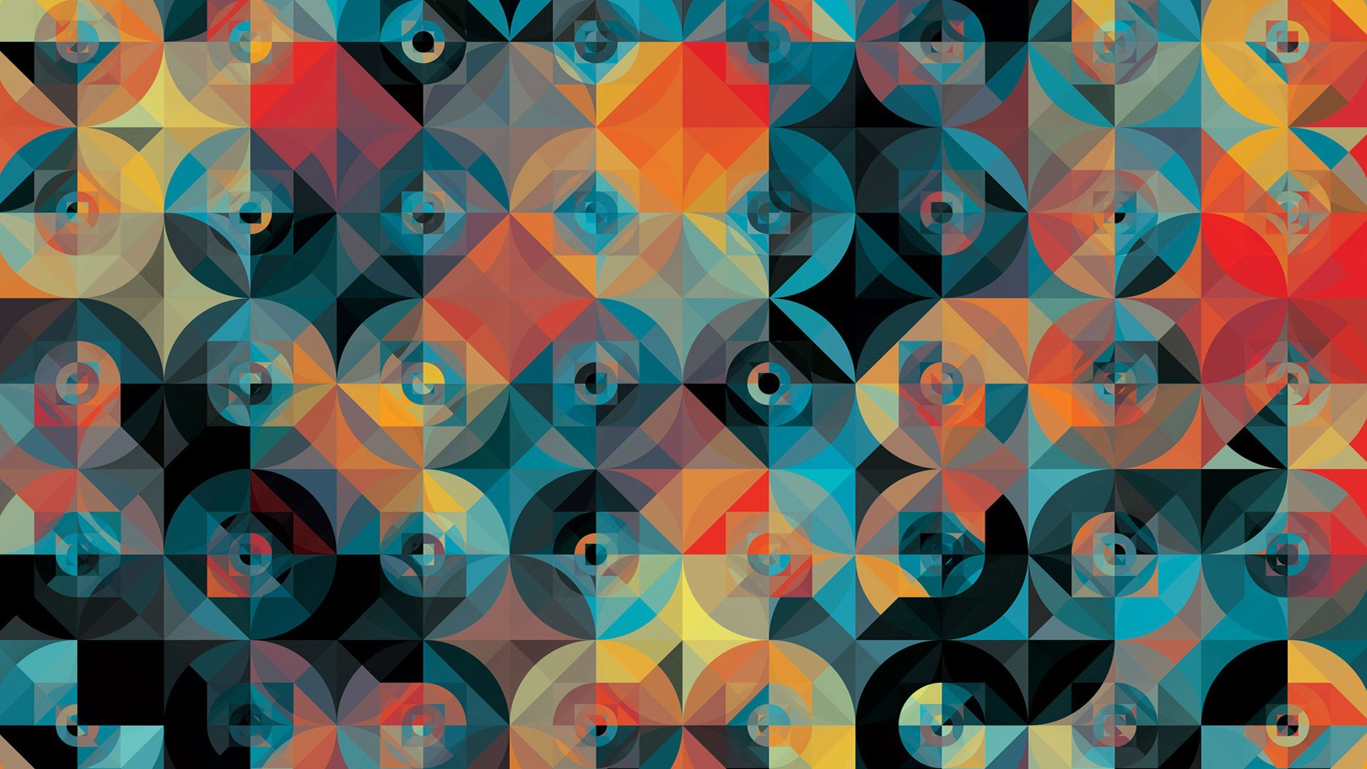 General 1920x1080 digital art colorful square geometry Andy Gilmore