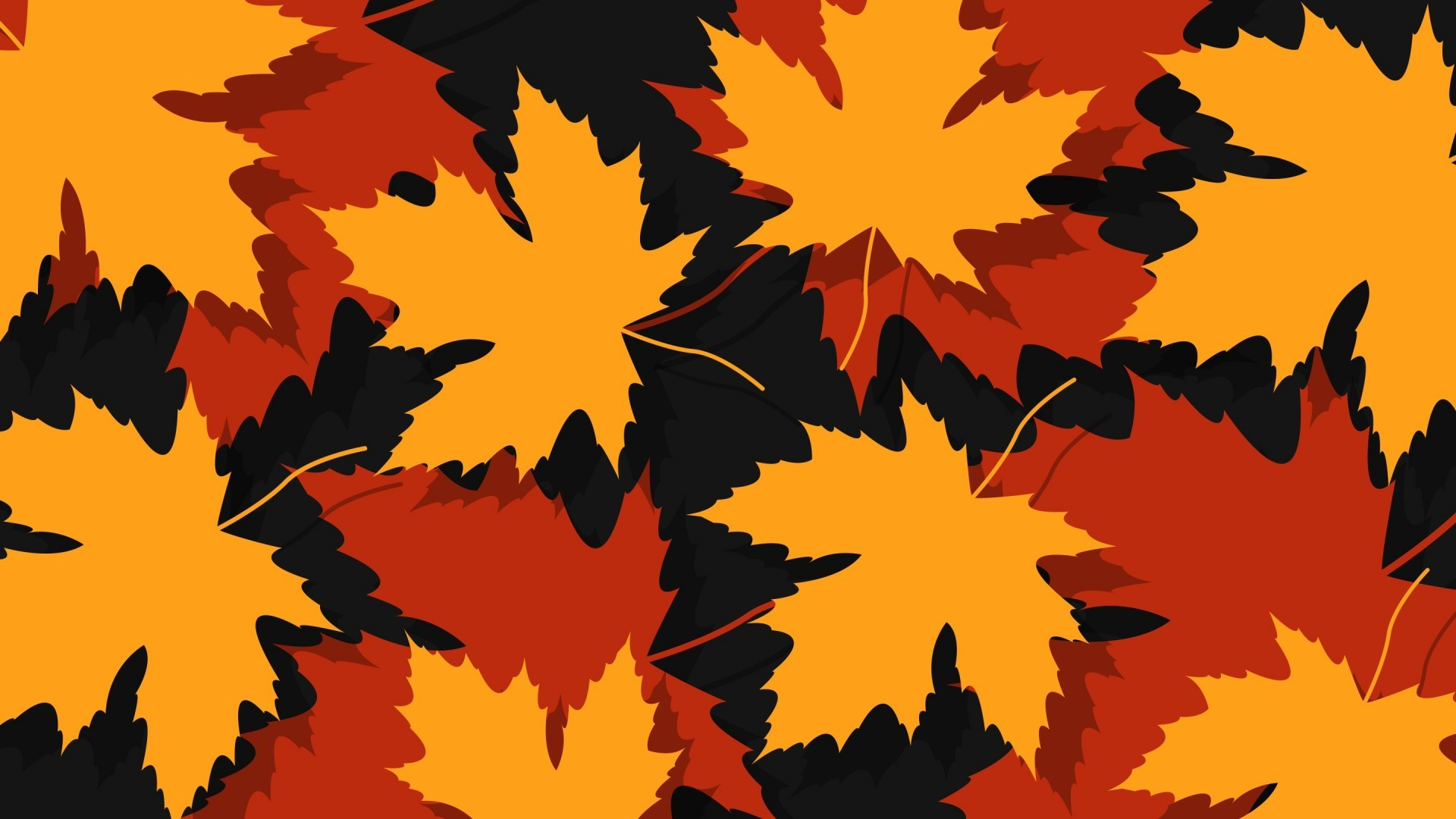 General 1920x1080 leaves maple leaves vector plants artwork