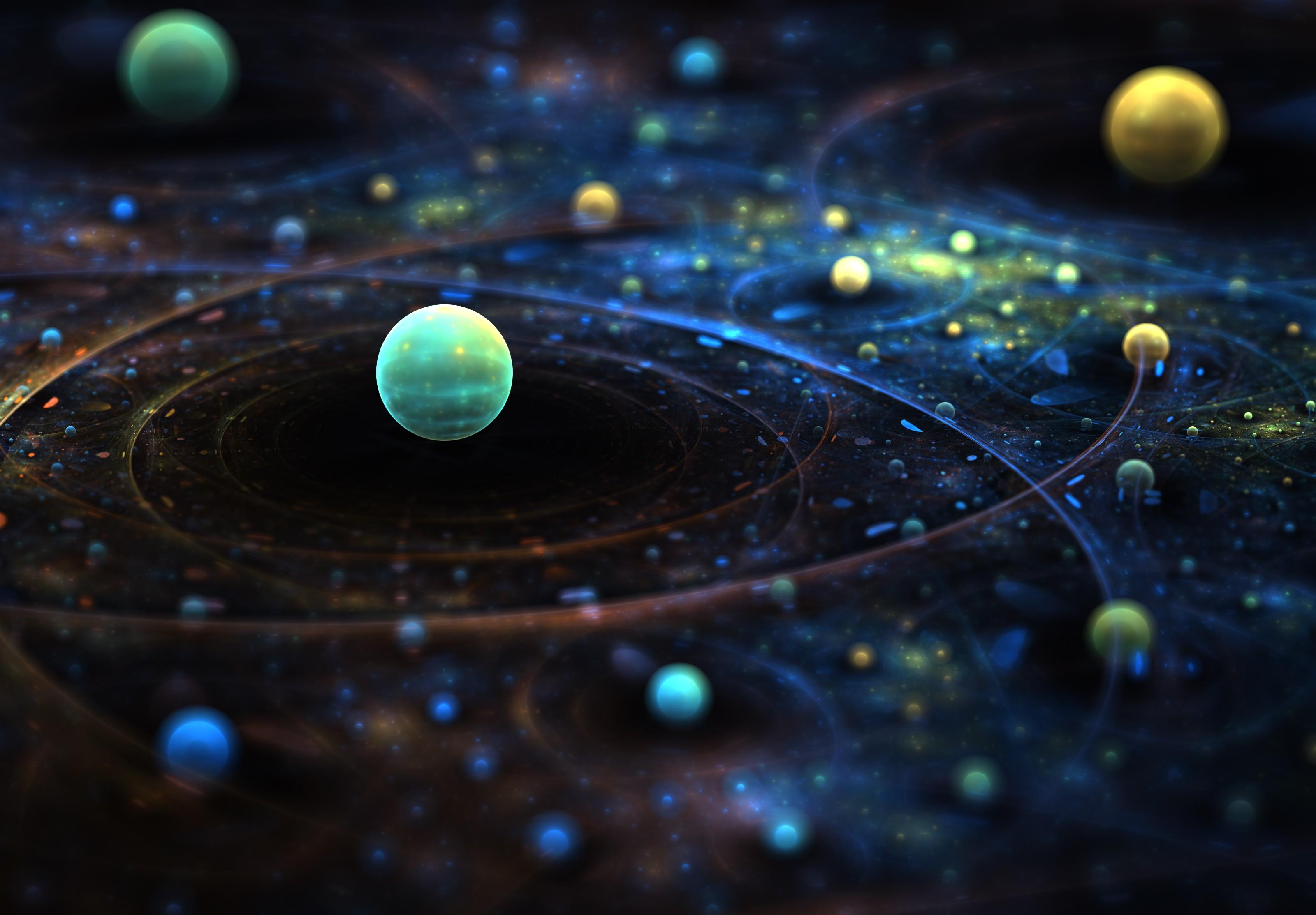 General 3200x2227 space universe digital art planet abstract sphere space art 3D Abstract 3D map tilt shift