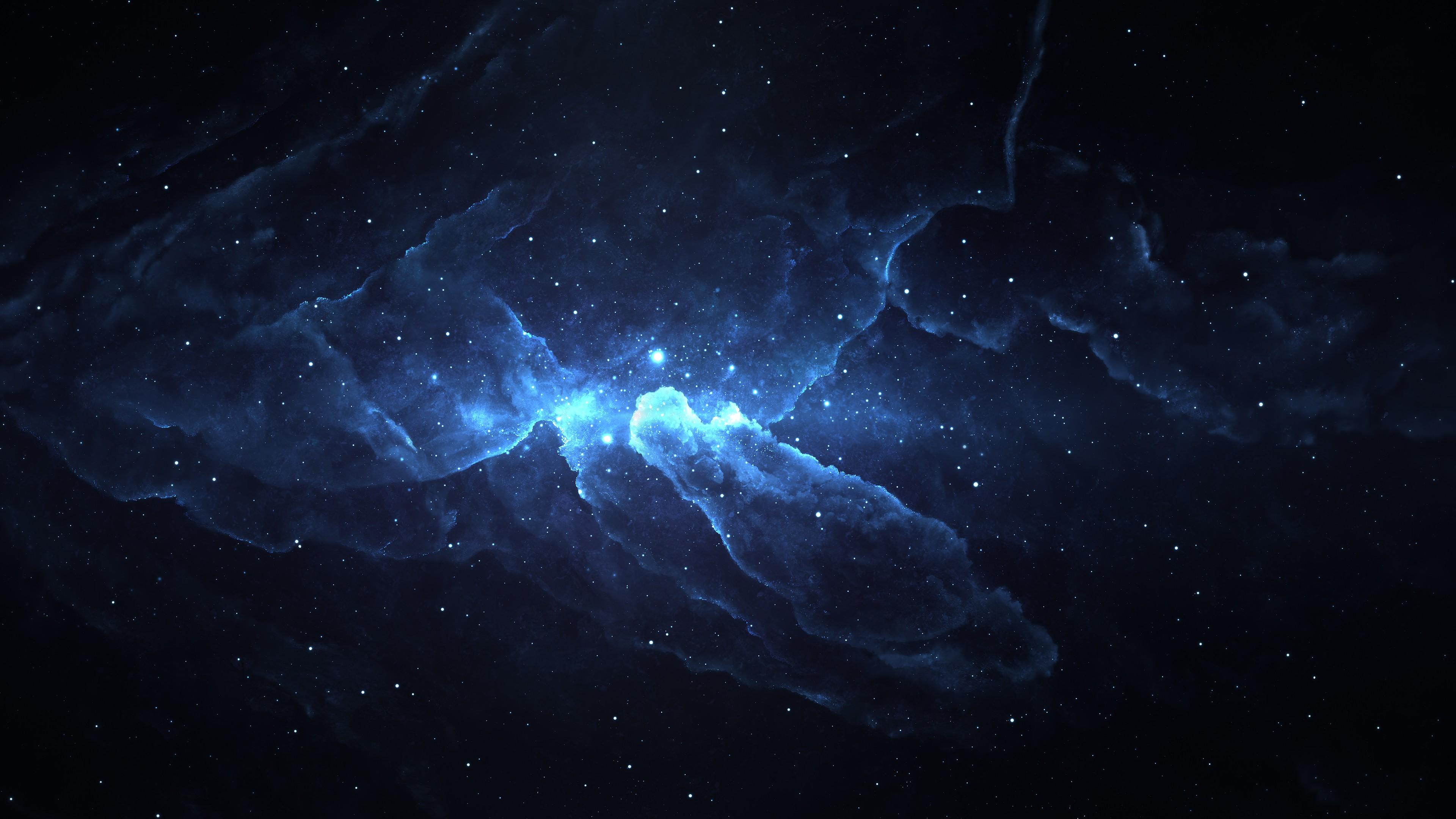 General 3840x2160 digital art artwork nebula space space art stars glowing abstract Starkiteckt lights universe