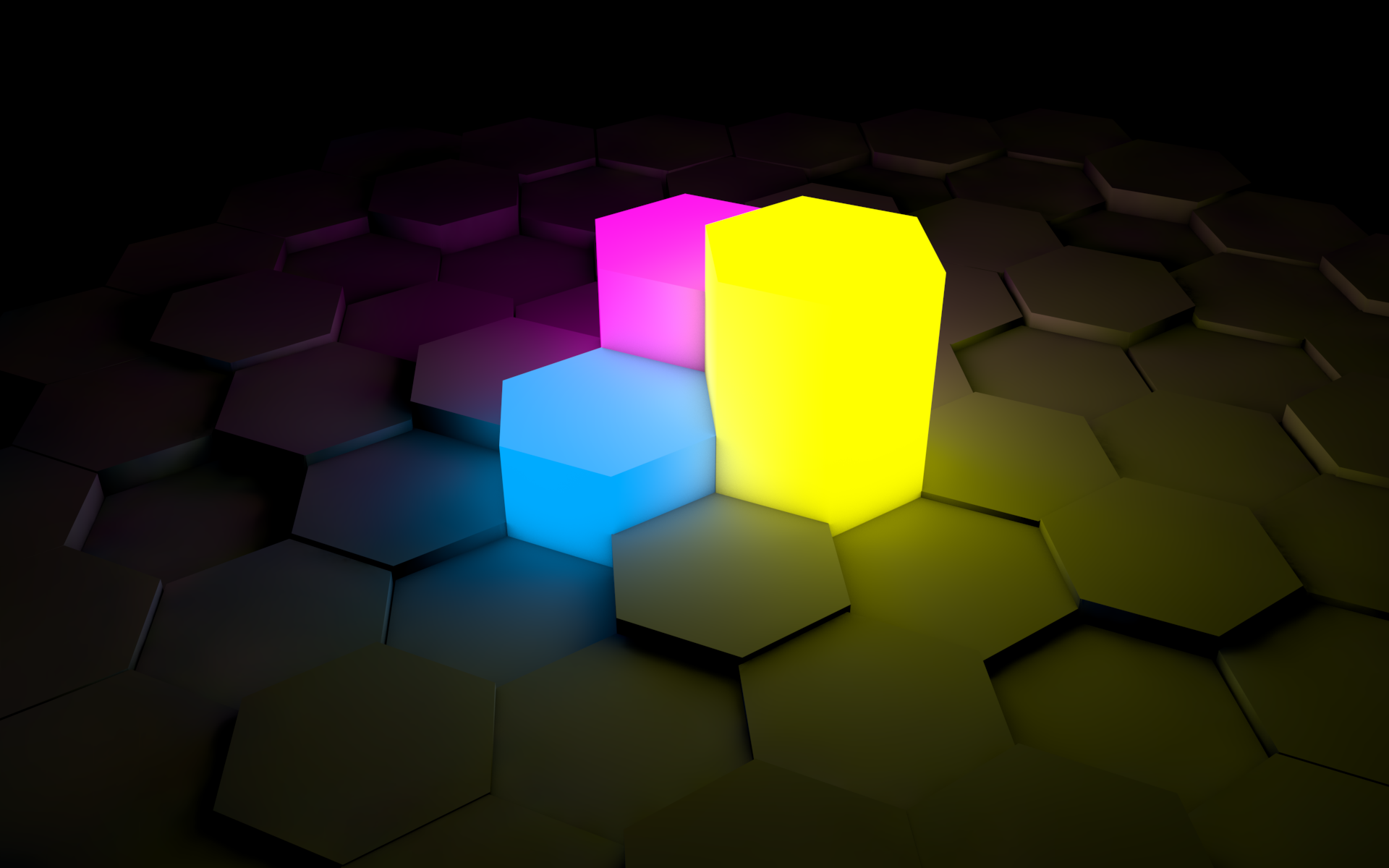 General 1920x1200 lights abstract minimalism hexagon digital art