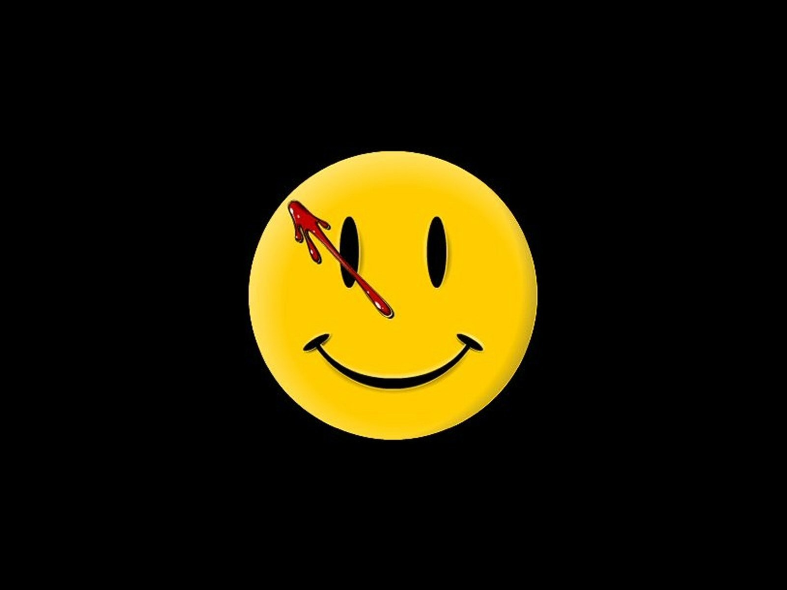 General 1600x1200 Watchmen happy face blood smiley simple background