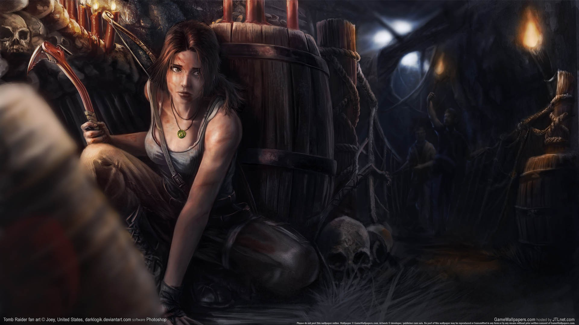 General 1920x1080 video games video game characters video game girls Tomb Raider Lara Croft fan art artwork
