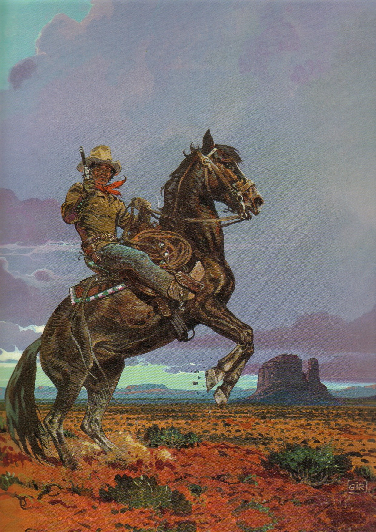 General 1241x1754 Mœbius western cowboys horse artwork