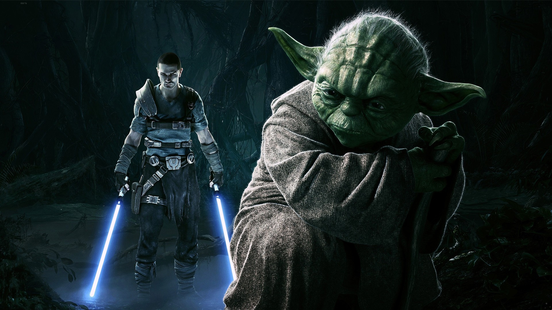 General 1920x1080 Star Wars Yoda Jedi lightsaber