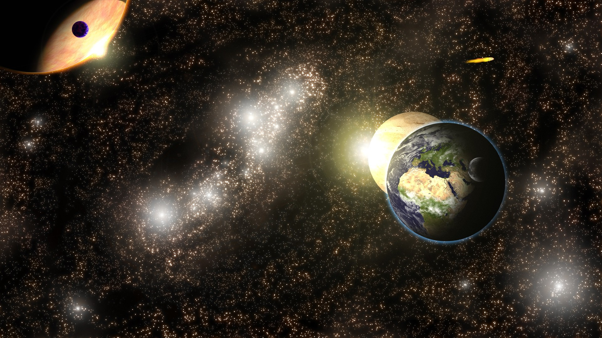 General 1920x1080 space universe Earth planet