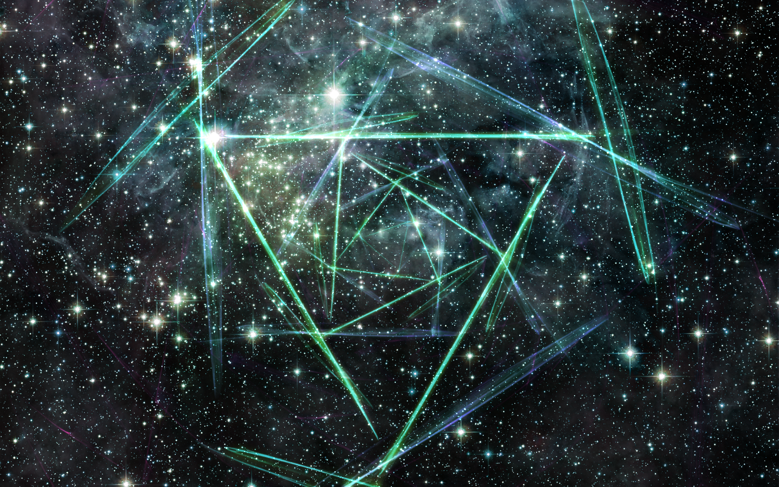 General 2560x1600 space triangle abstract stars