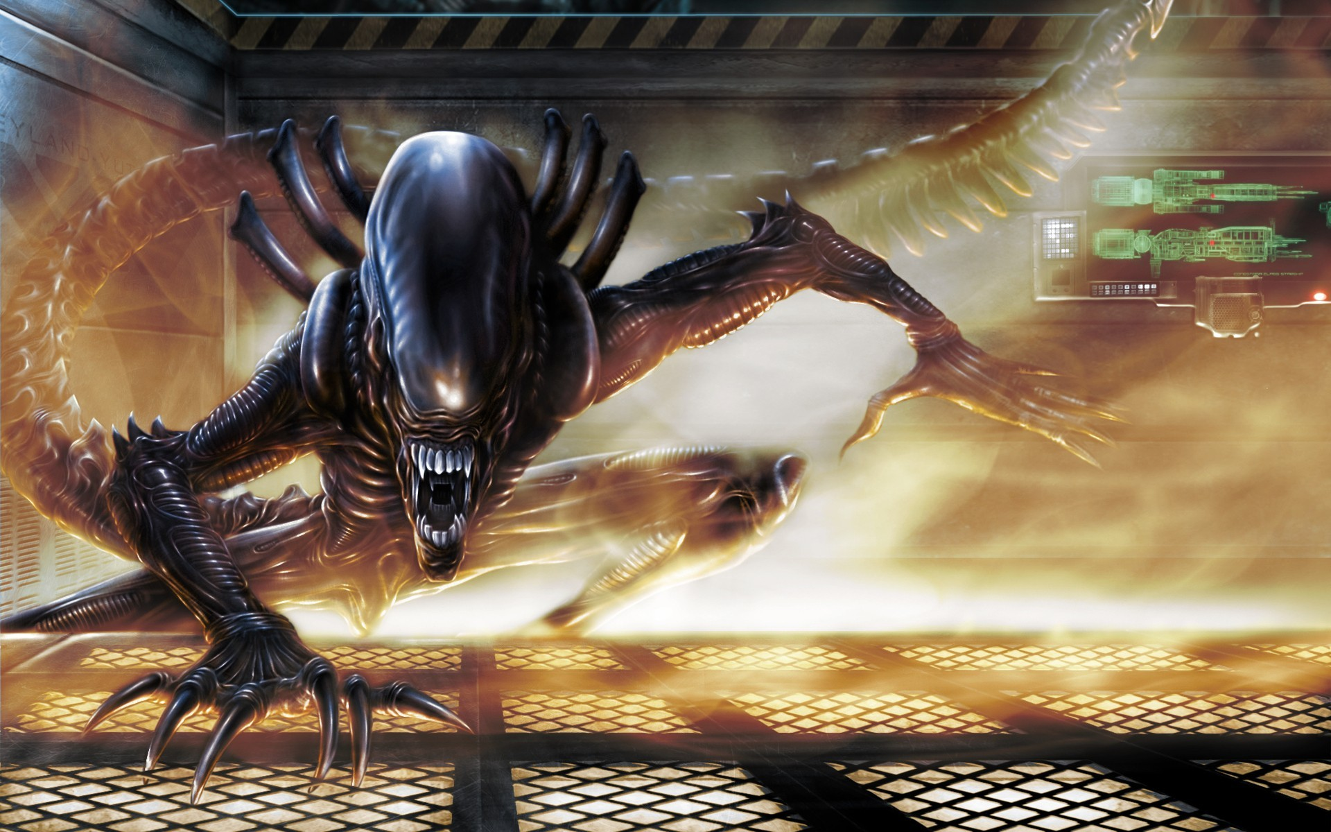 General 1920x1200 science fiction Xenomorph aliens Alien (movie) movies artwork