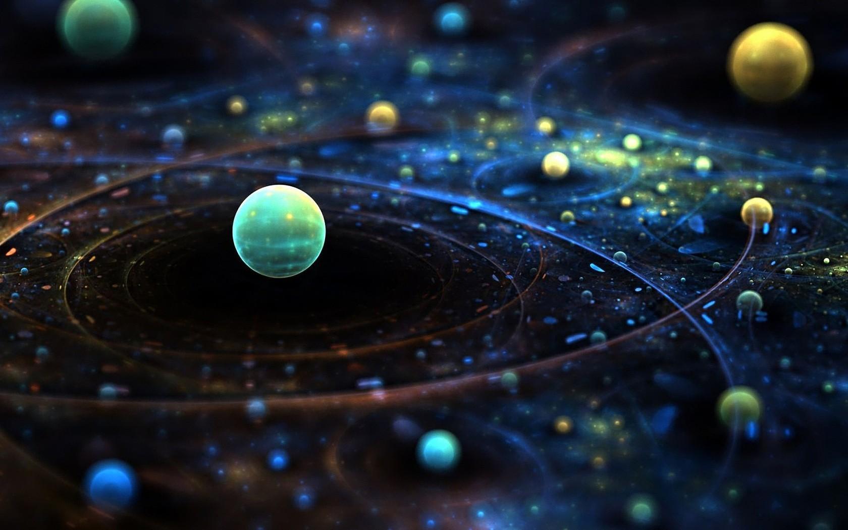 General 1680x1050 space art space planet digital art map CGI render 3D 3D Abstract abstract Solar System sphere tilt shift DeviantArt