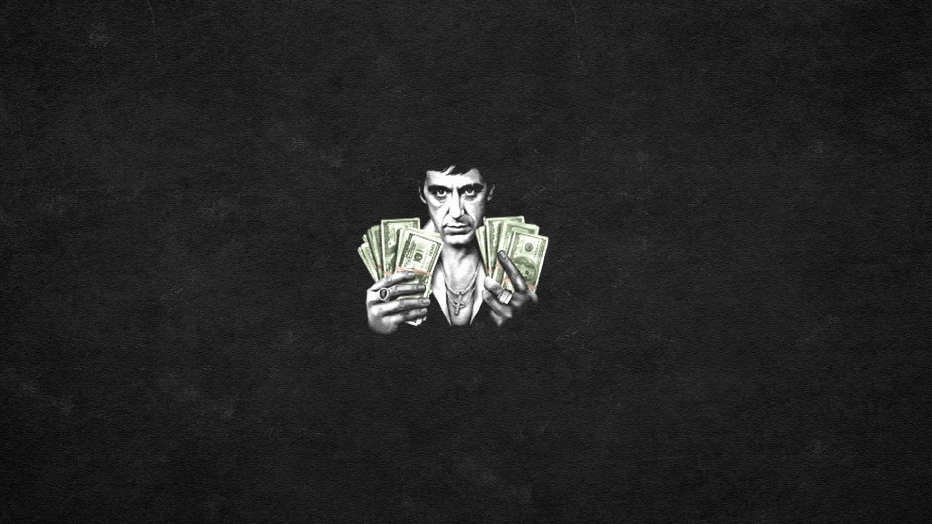 General 1920x1080 Scarface Tony Montana Al Pacino black background movies