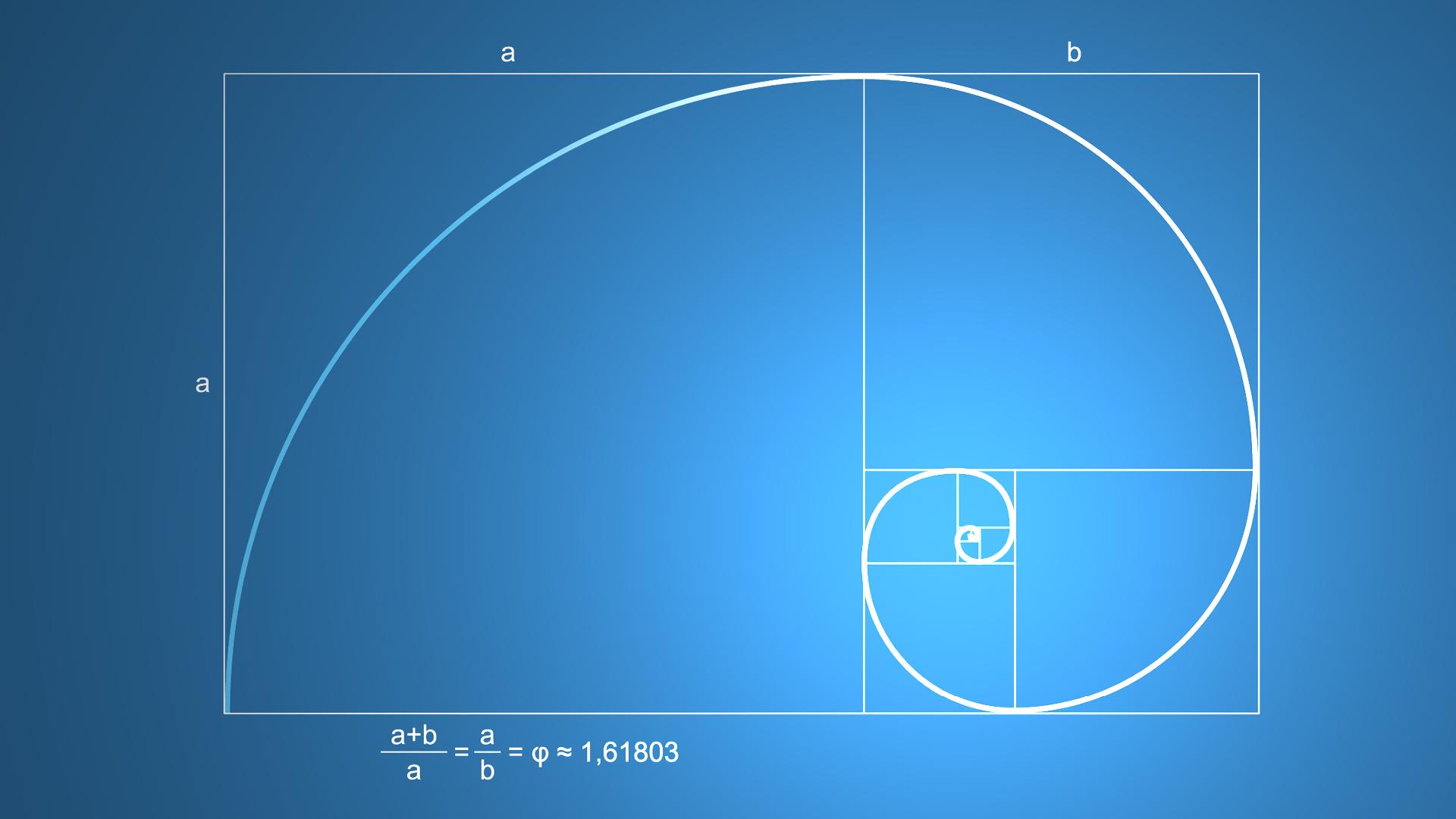 General 1920x1080 science pattern mathematics minimalism golden ratio golden ratio mathematics blue background square