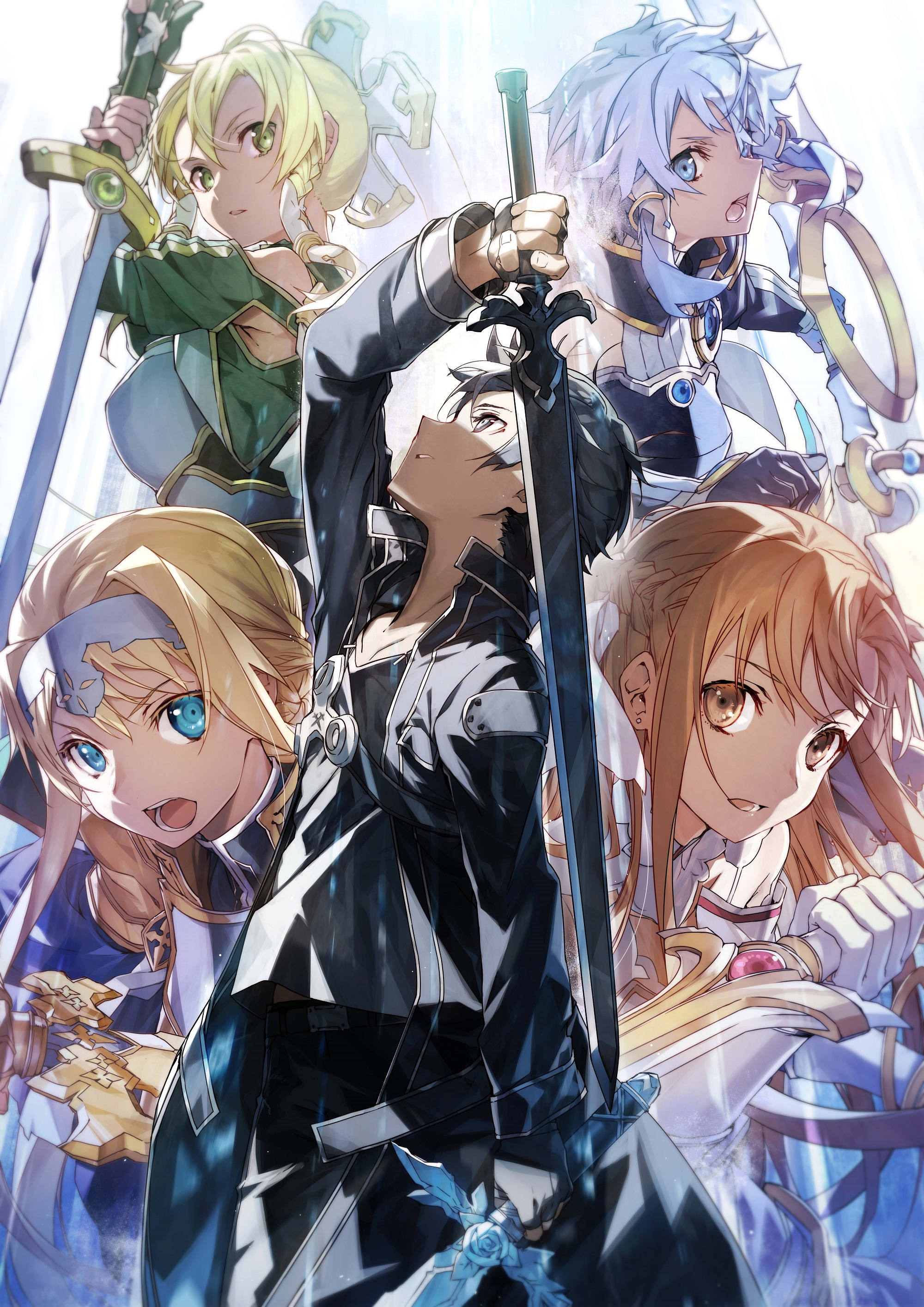 Anime 2000x2828 anime novel Sword Art Online Kirigaya Kazuto Kirigaya Suguha Yuuki Asuna Asada Shino Alice Zuberg