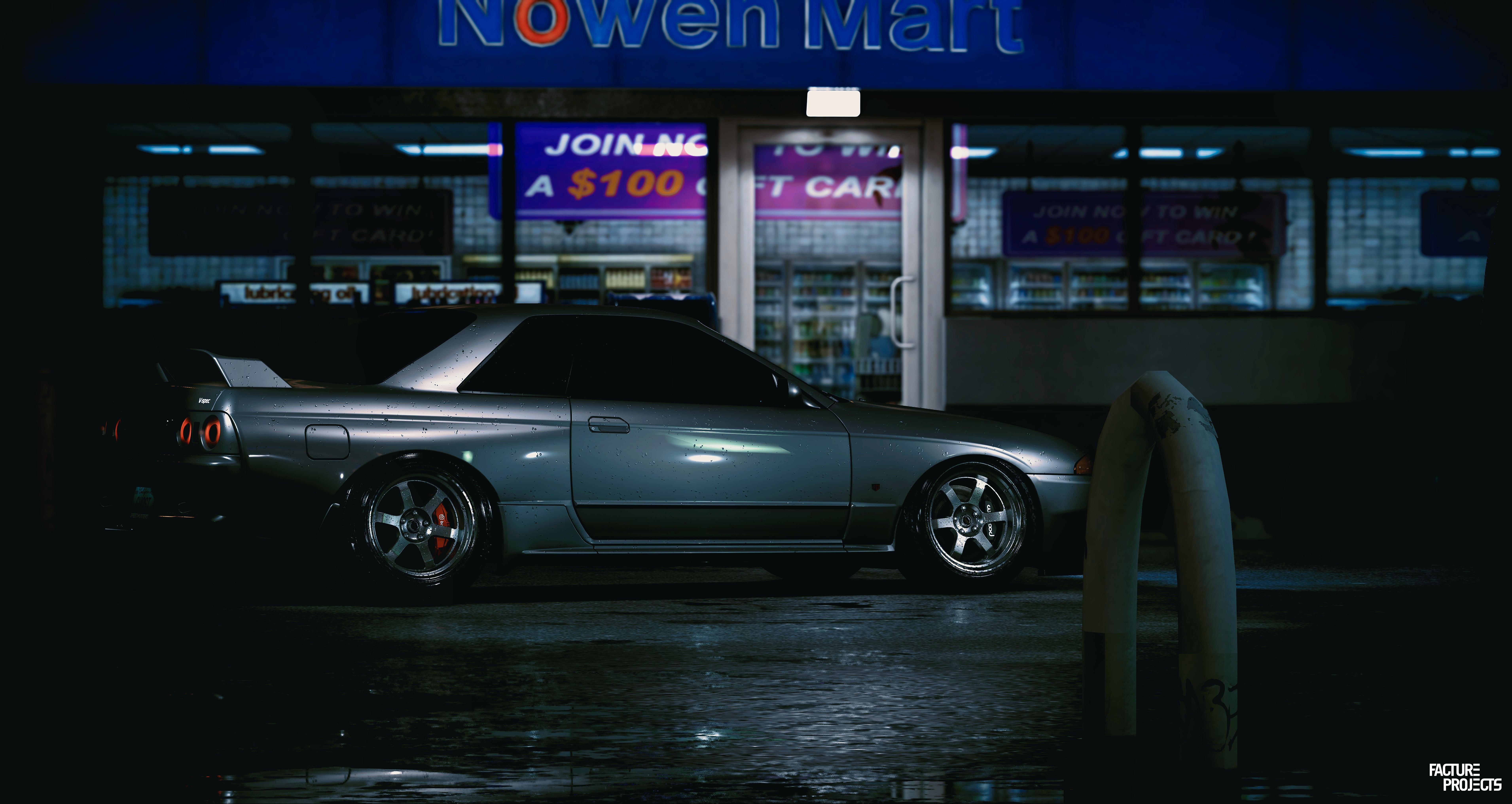General 7644x4068 Nissan Skyline R32 NFS 2015 Need for Speed gray cars car billards Nissan GT-R Nissan GT-R 2017 screen shot