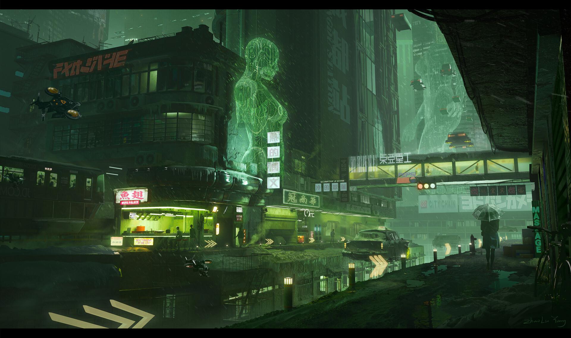 General 1920x1136 artwork digital art futuristic cyber city hologram