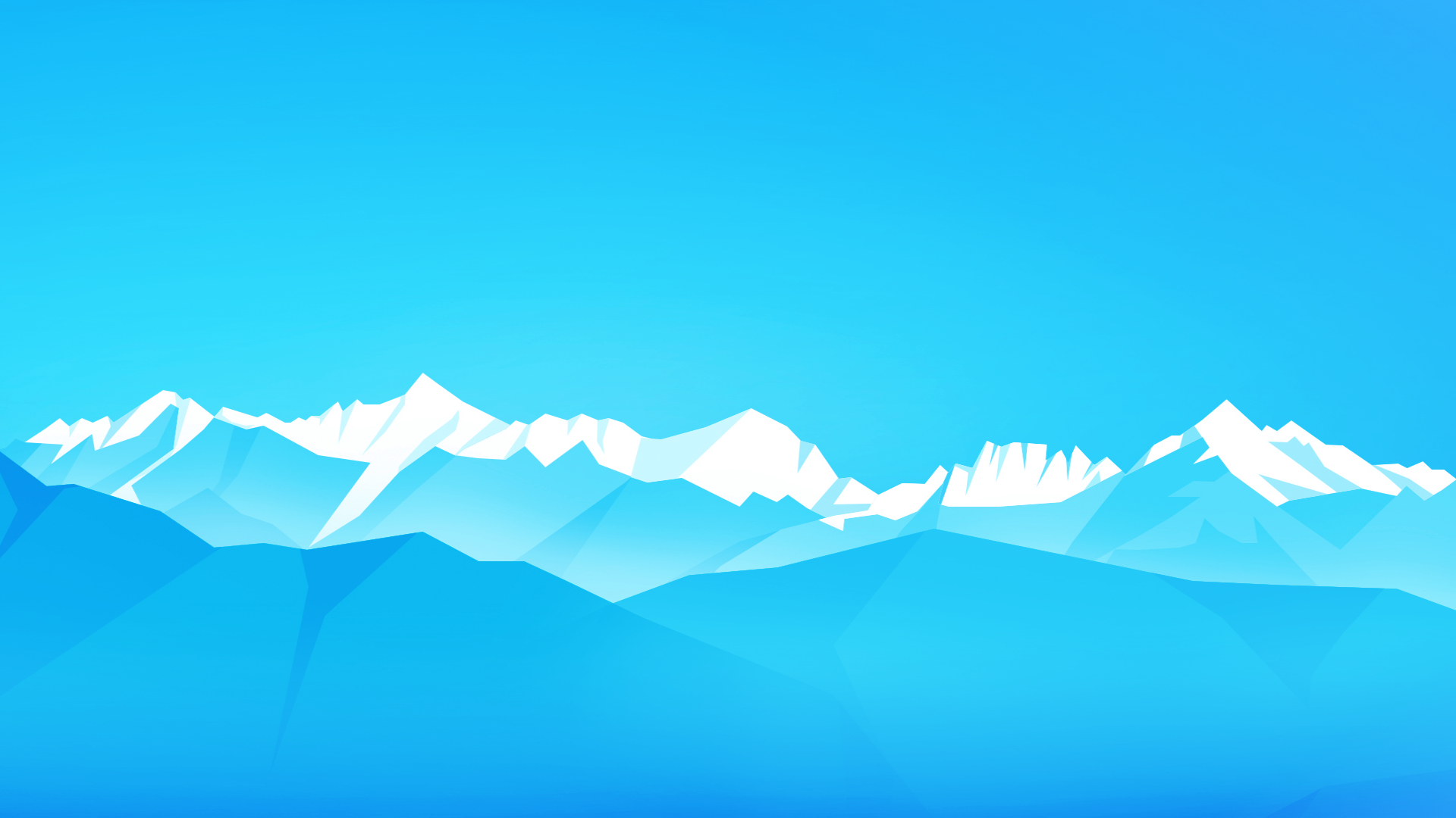 General 1920x1080 mountains sky abstract nature landscape digital art cyan cyan background vector