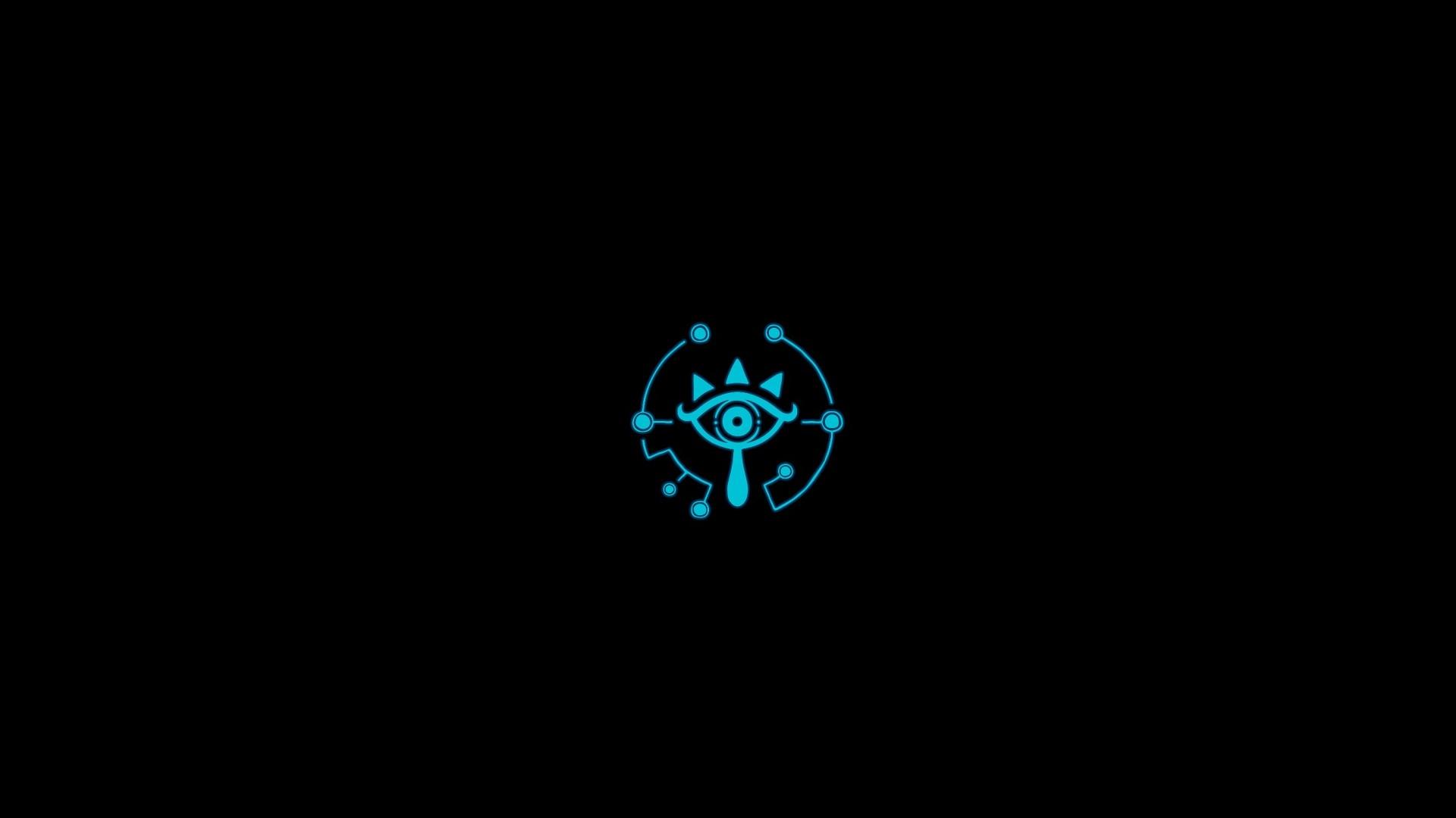 The Legend Of Zelda Minimalism Video Games Cyan Centered