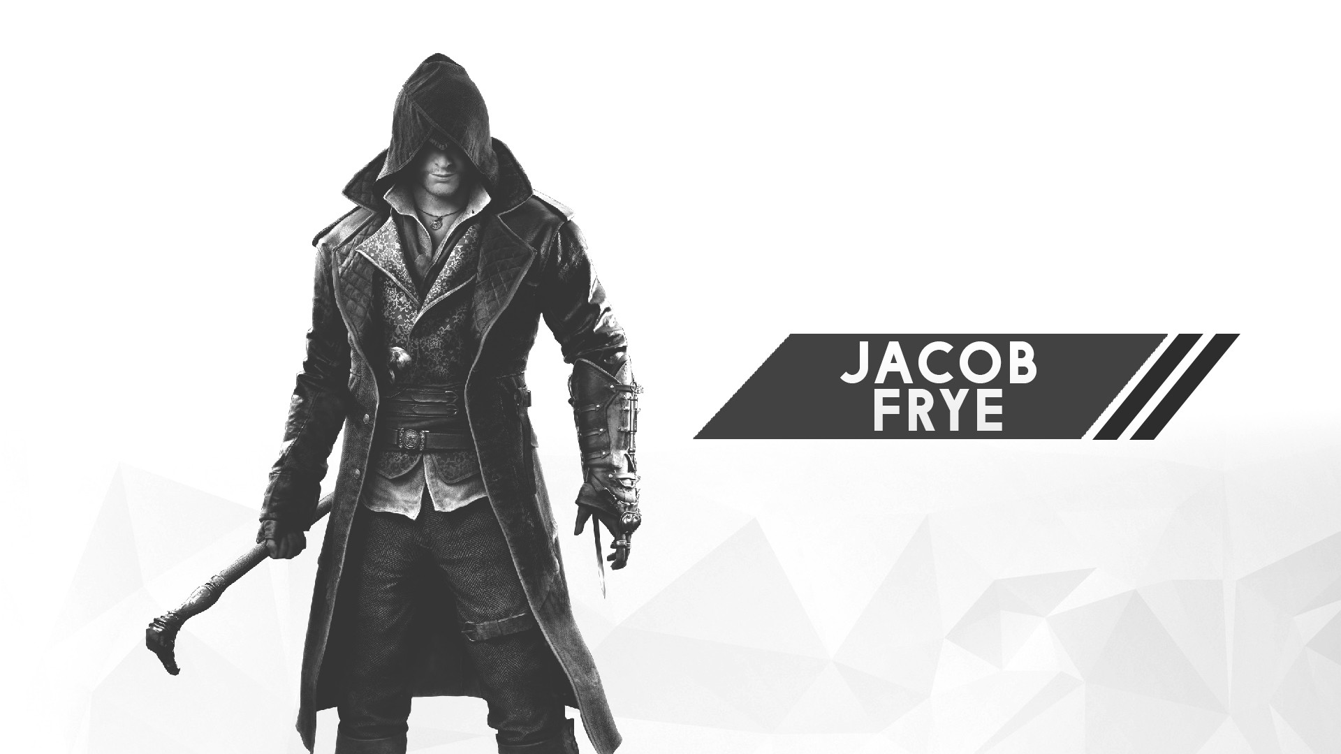 General 1920x1080 Assassin's Creed digital art minimalism 2D white white background video games Jacob Frye Assassin's Creed:  Unity