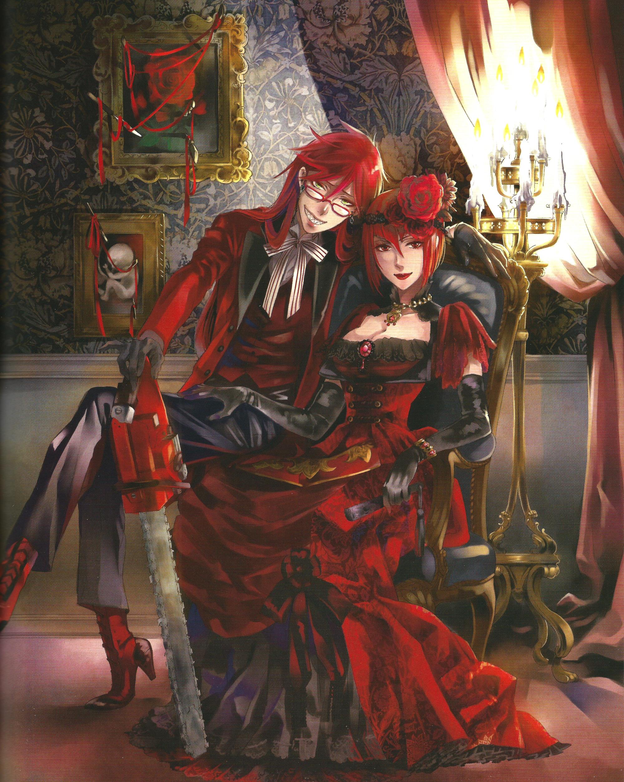 Anime 2000x2505 Kuroshitsuji  Sutcliff Grell  anime anime girls redhead