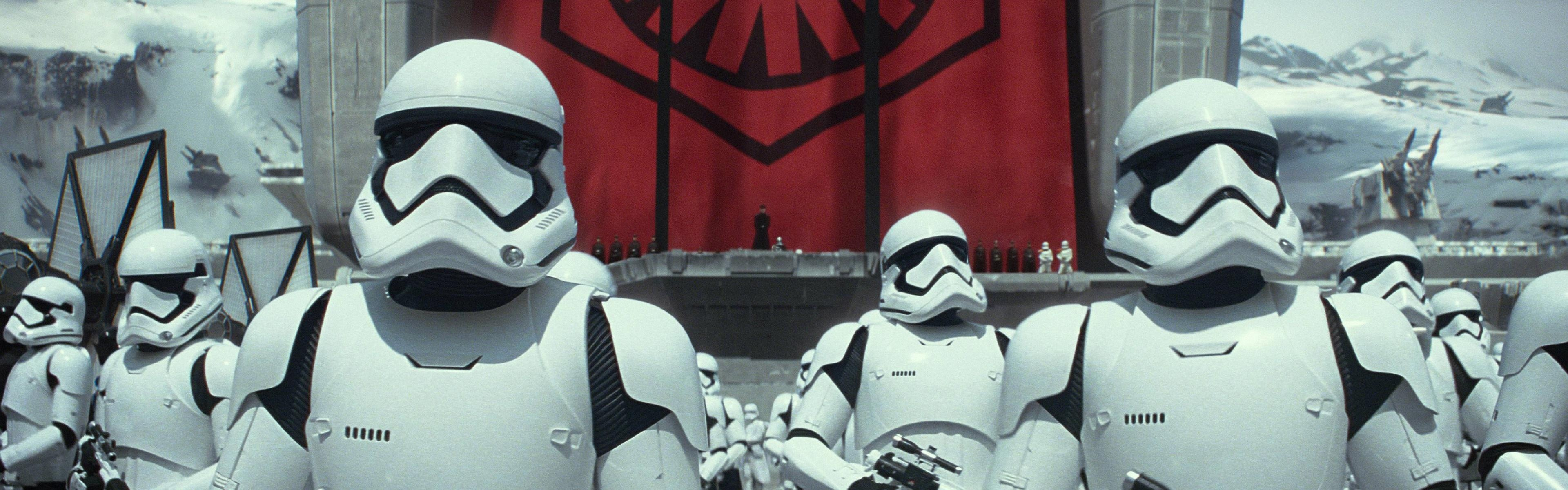 General 3840x1200 dual monitors Storm Troopers The First Order soldier stormtrooper Star Wars Star Wars: The Force Awakens
