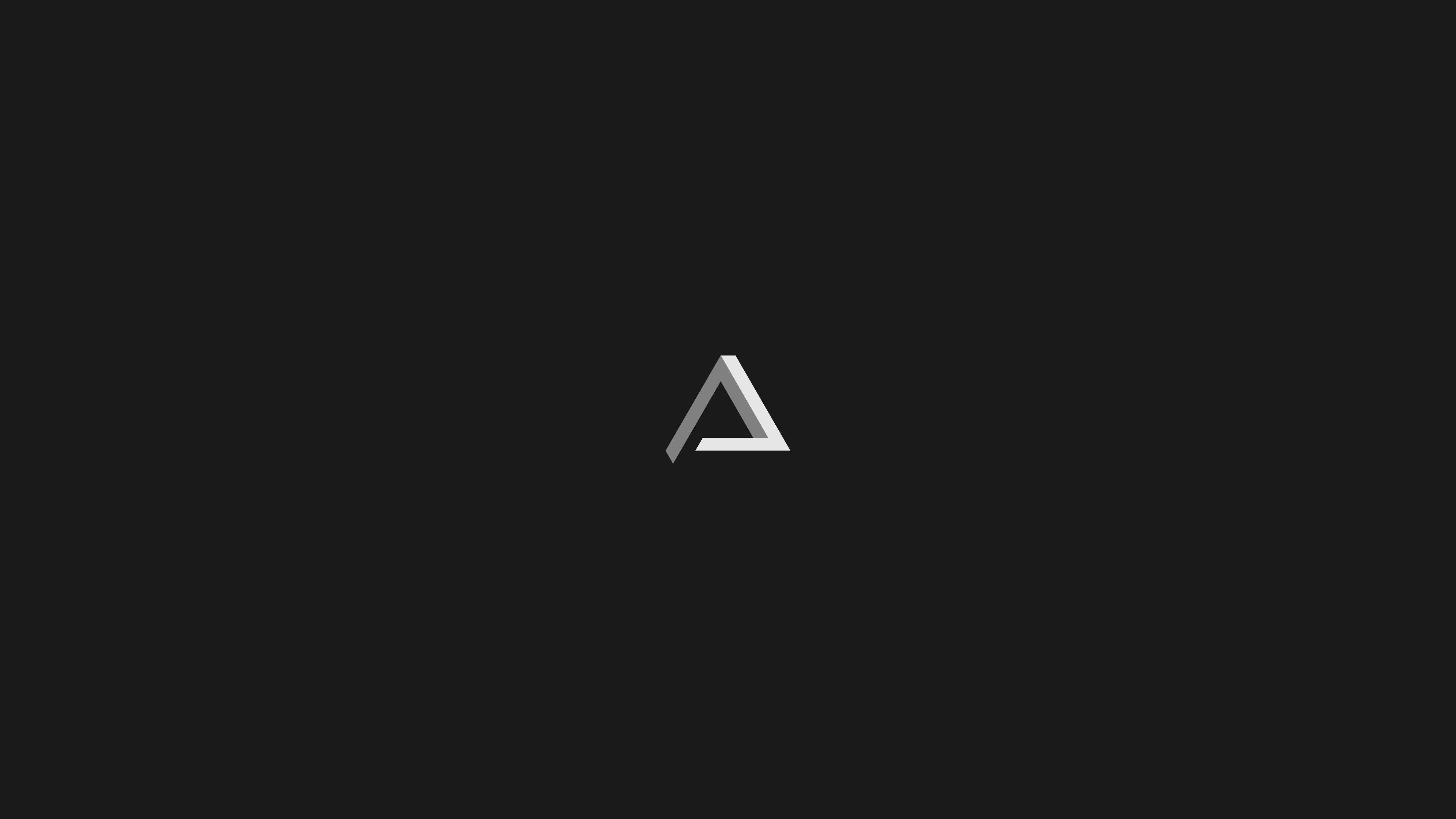 General 3840x2160 geometry minimalism Penrose triangle digital art artwork monochrome dark