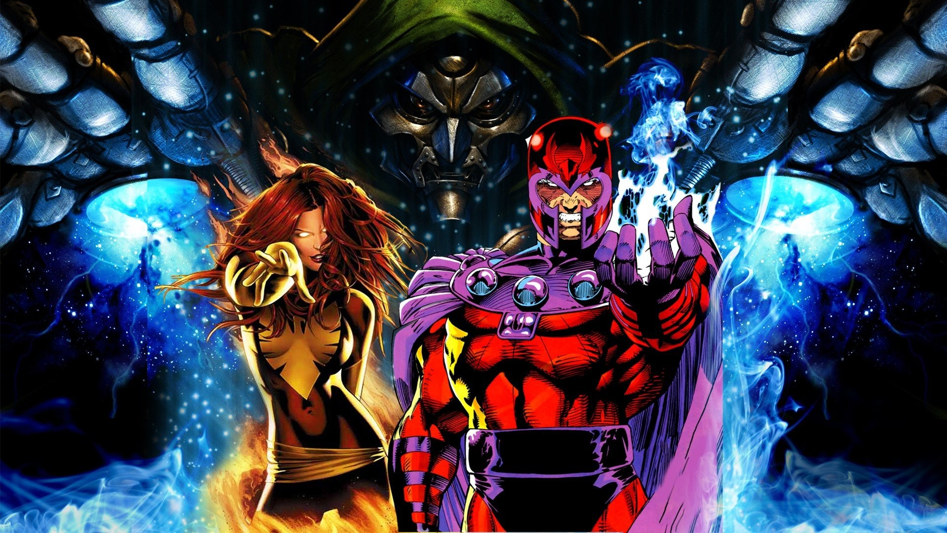 General 1920x1080 Marvel Comics Dark  Phoenix Jean Grey Magneto Dr. Doom