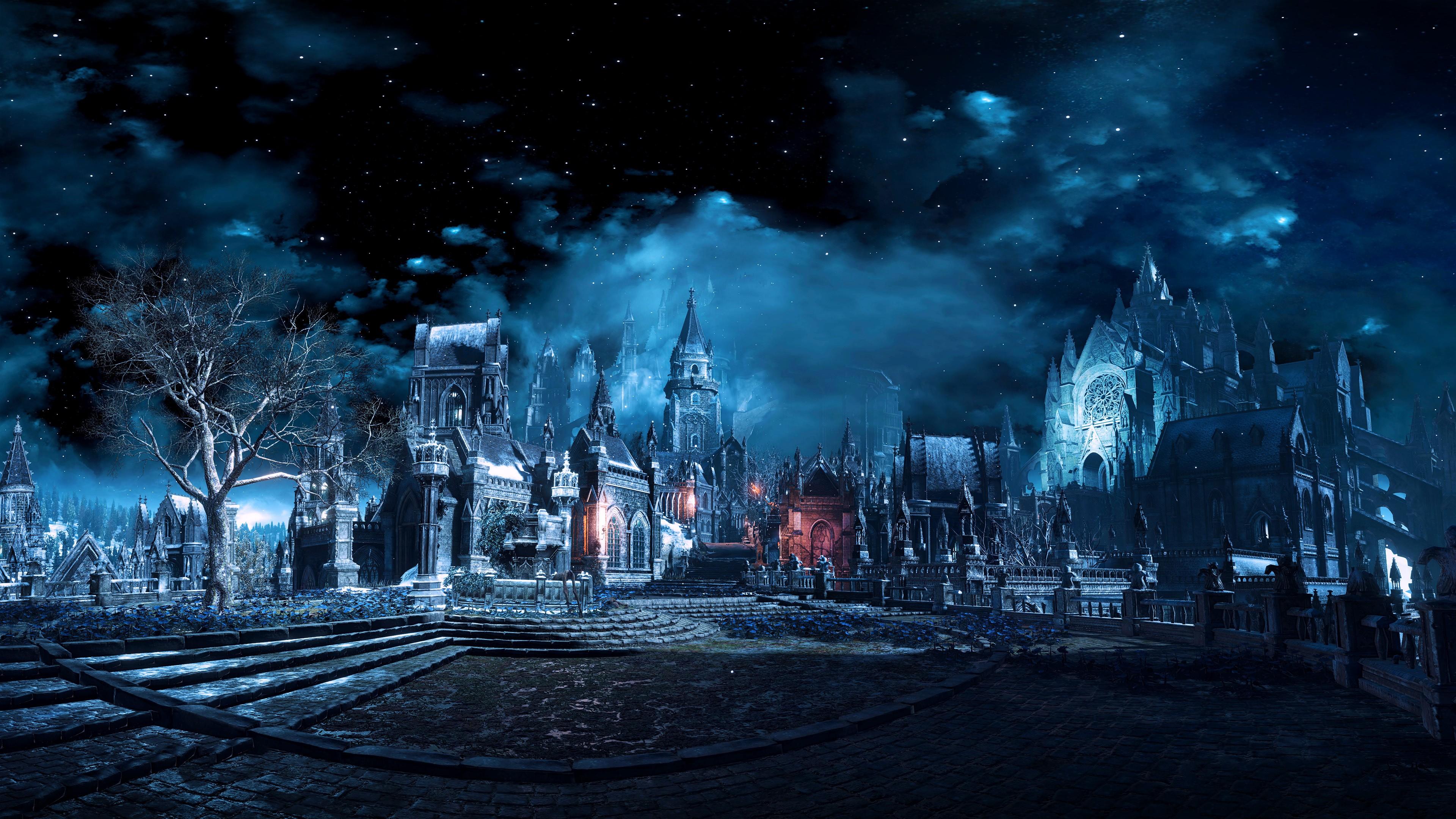 General 3840x2160 Dark Souls Dark Souls III night video games