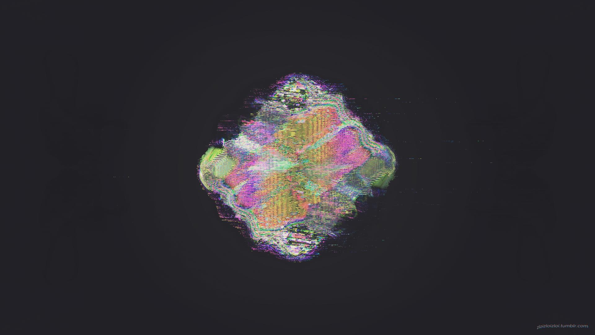 General 1920x1080 glitch art abstract black LSD