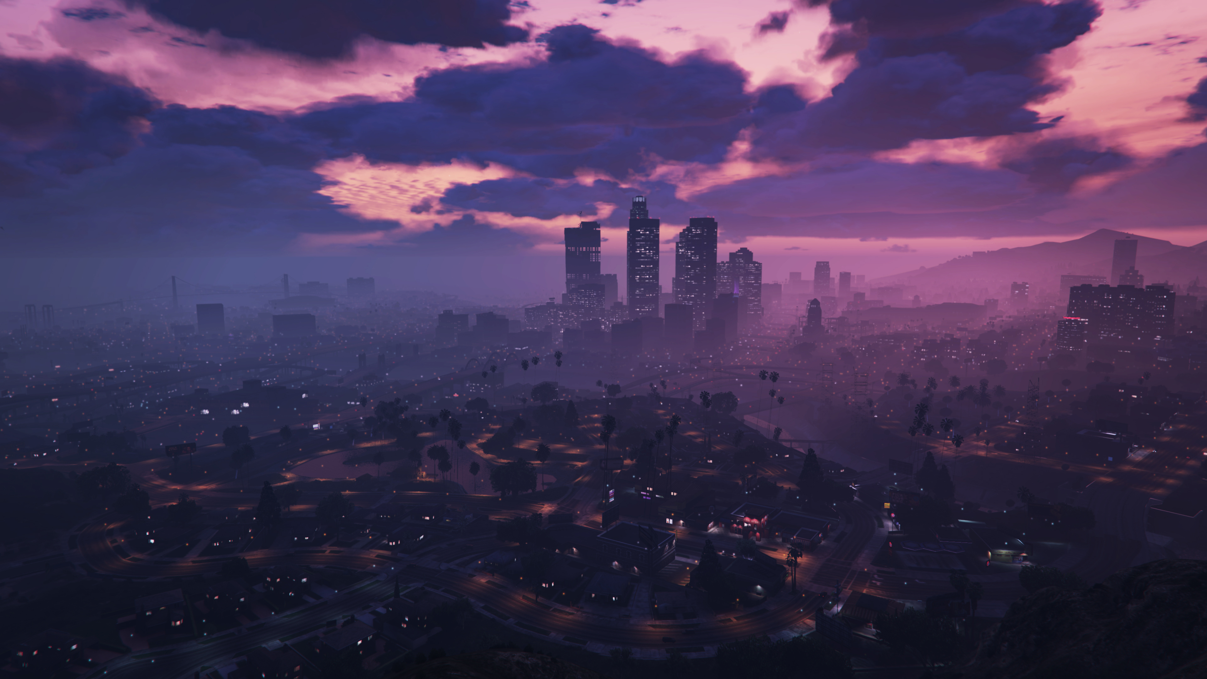 General 3840x2160 skyline PC gaming video games cityscape sky GTA Online Grand Theft Auto V