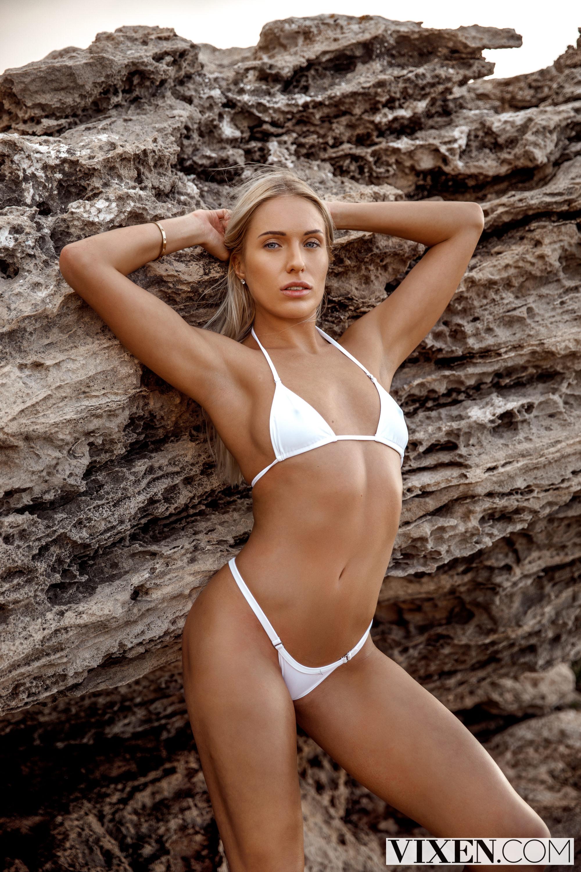People 2000x3000 Angelika Grays women pornstar looking at viewer Vixen bikini women outdoors arms up blonde
