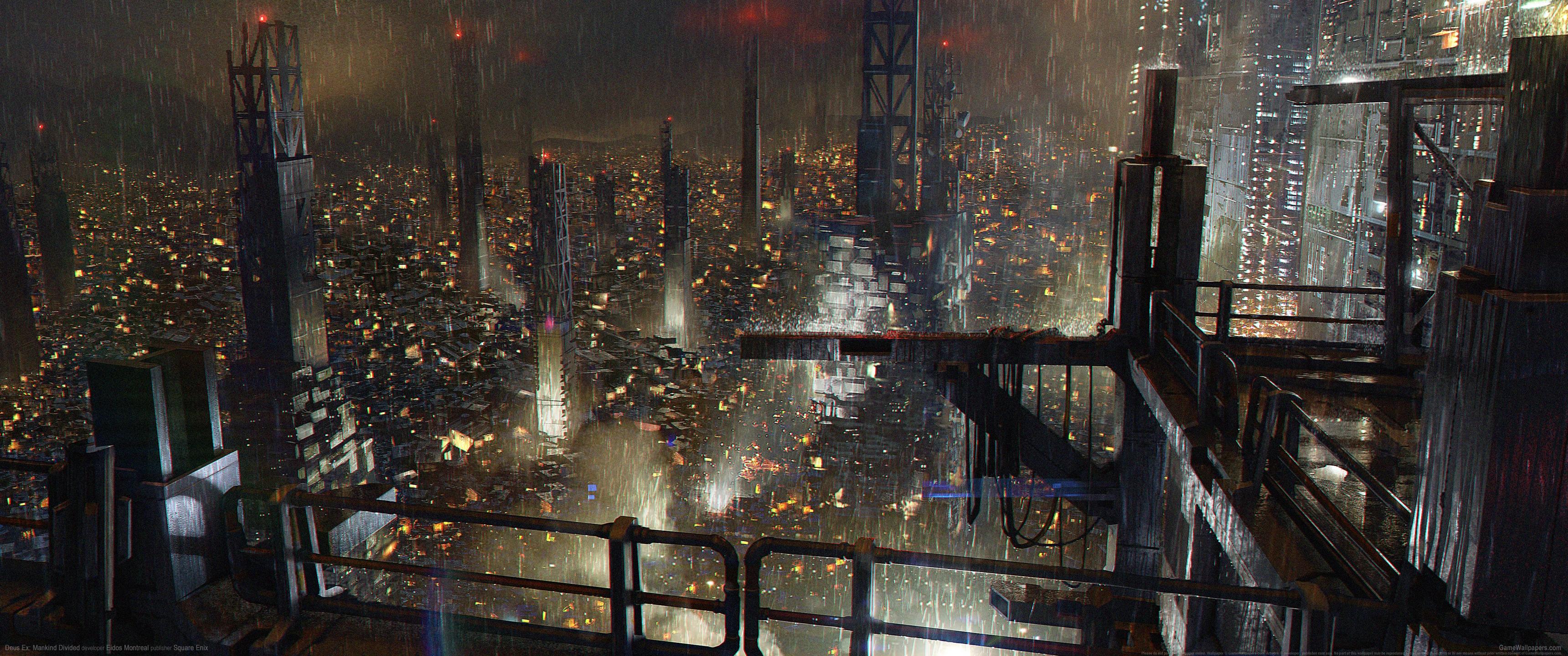 General 3440x1440 video games ultrawide ultra-wide Deus Ex: Mankind Divided cyberpunk video game art Deus Ex