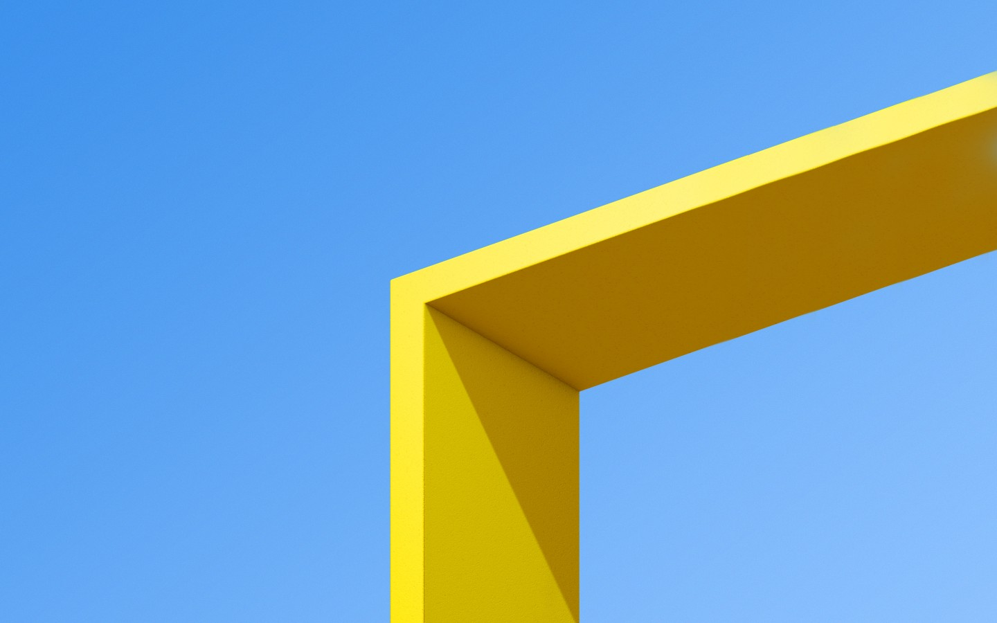 General 1440x900 colorful yellow blue architecture abstract 3D Abstract shadow minimalism sunlight