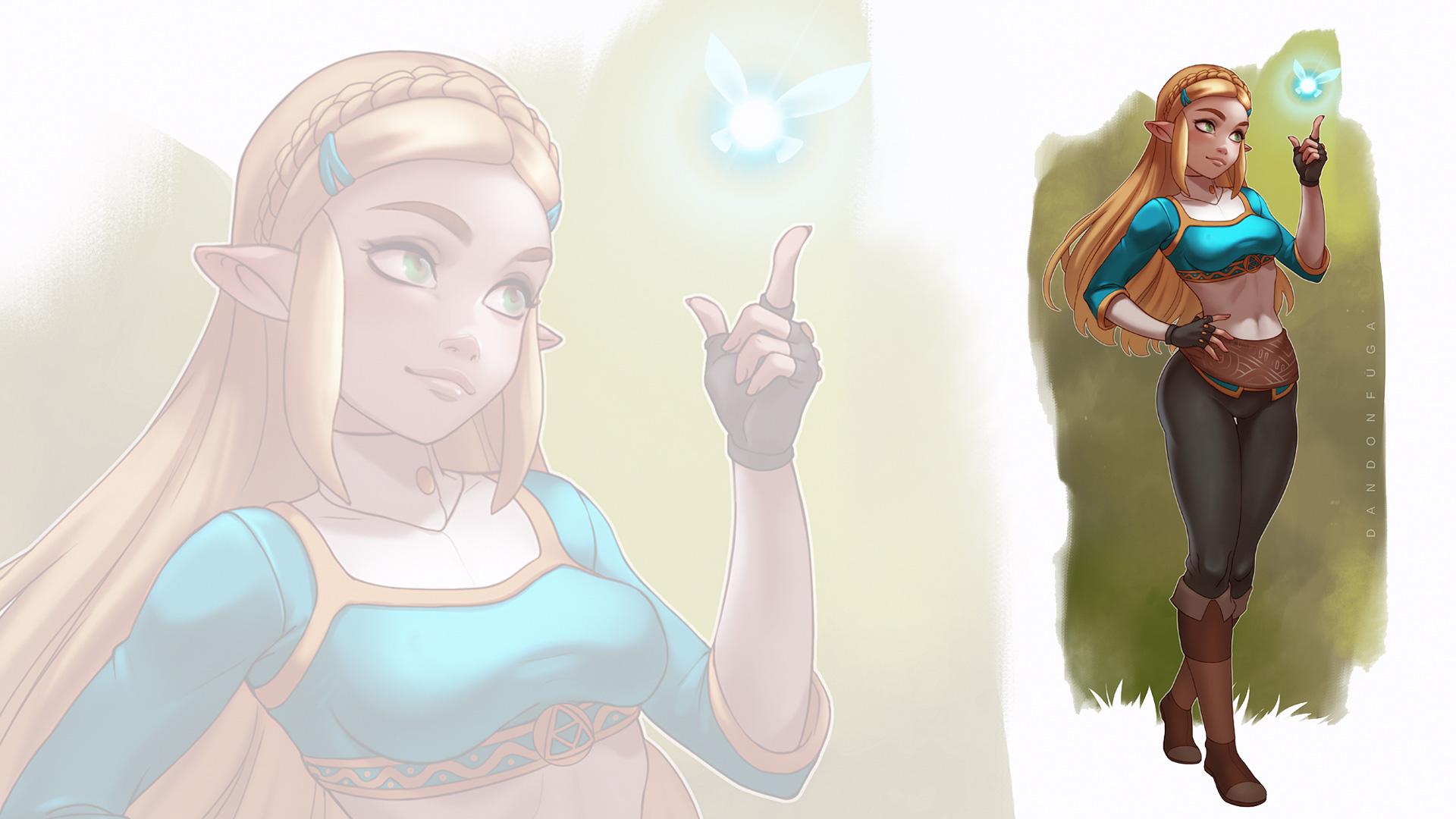 General 1920x1080 dandon fuga Princess Zelda The Legend of Zelda Zelda The Legend of Zelda: Breath of the Wild blonde pointed ears