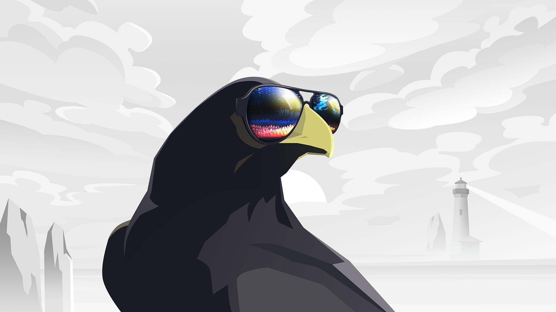 General 1920x1080 raven lighthouse glasses reflection Colors (Album) byrotek