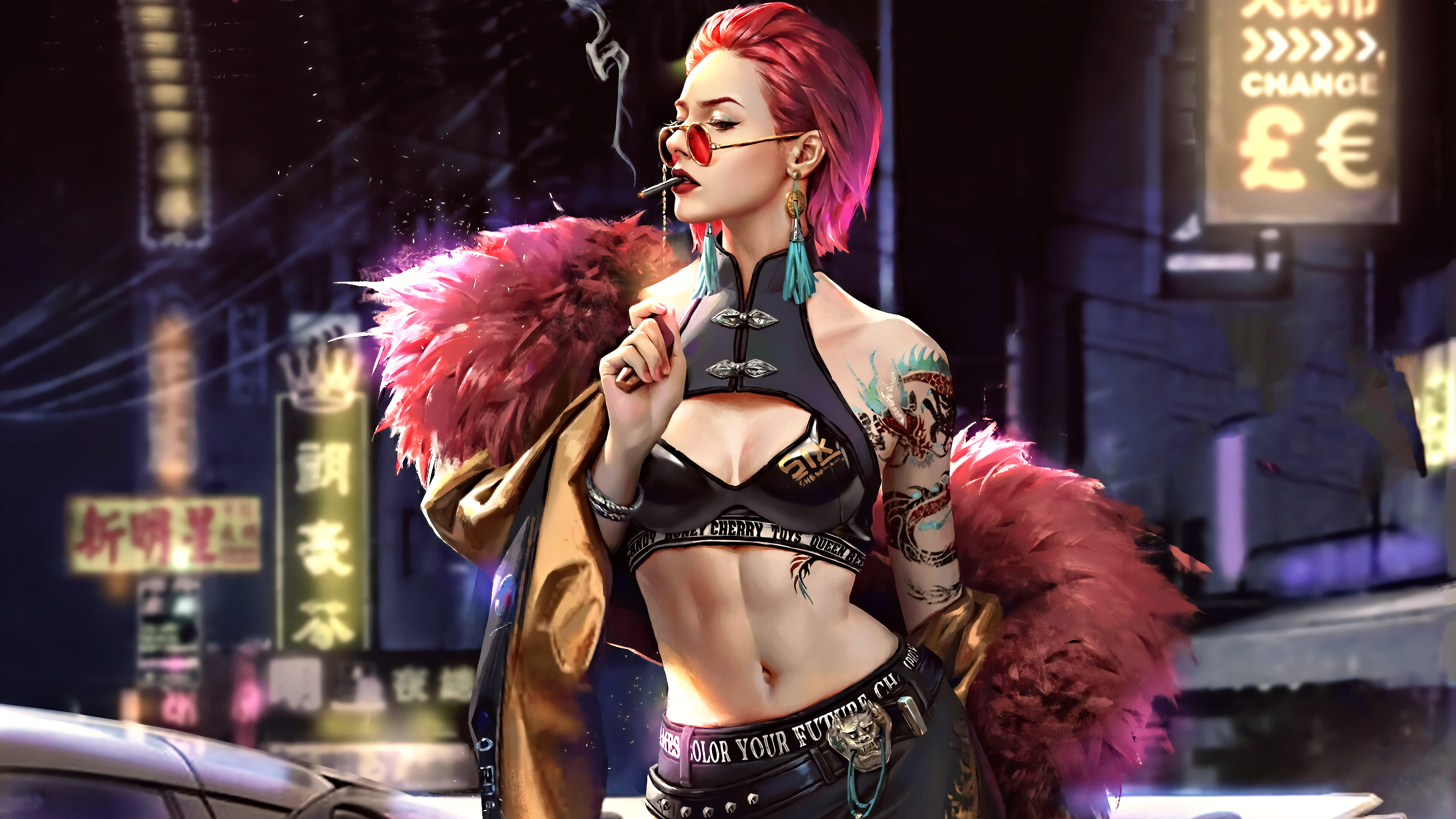 General 3840x2160 science fiction digital art concept art artwork futuristic fantasy art fan art 3D CGI cyberpunk cyber women city fantasy girl