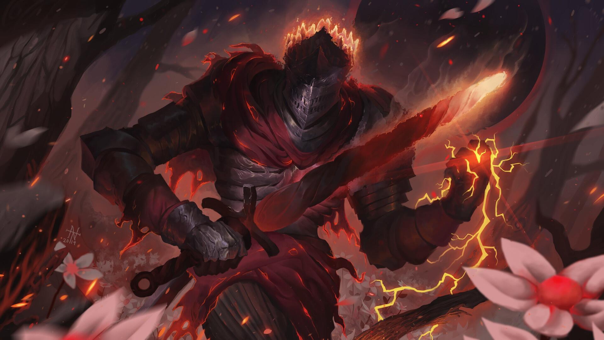 General 1920x1080 knight warrior fantasy art artwork Dark Souls dark souls 3 Soul of Cinder