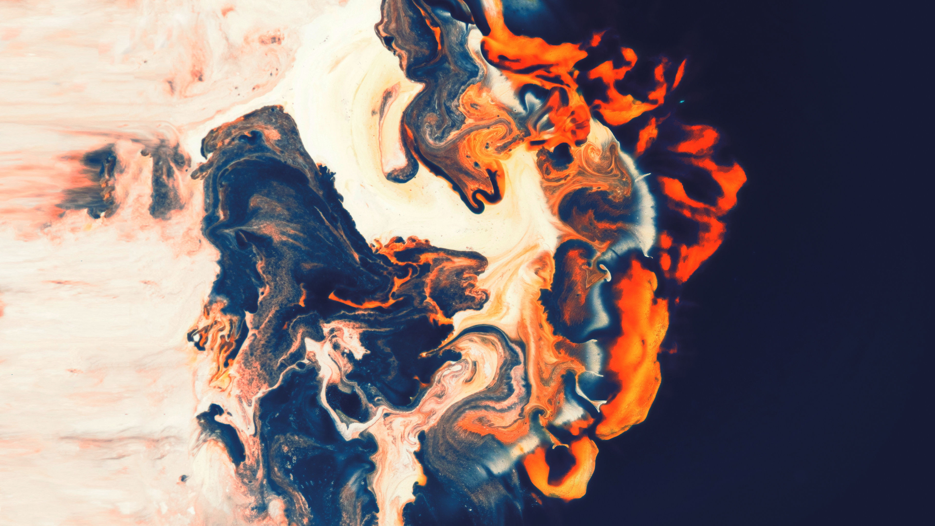 General 3840x2160 abstract fluid shapes Paranoid Android