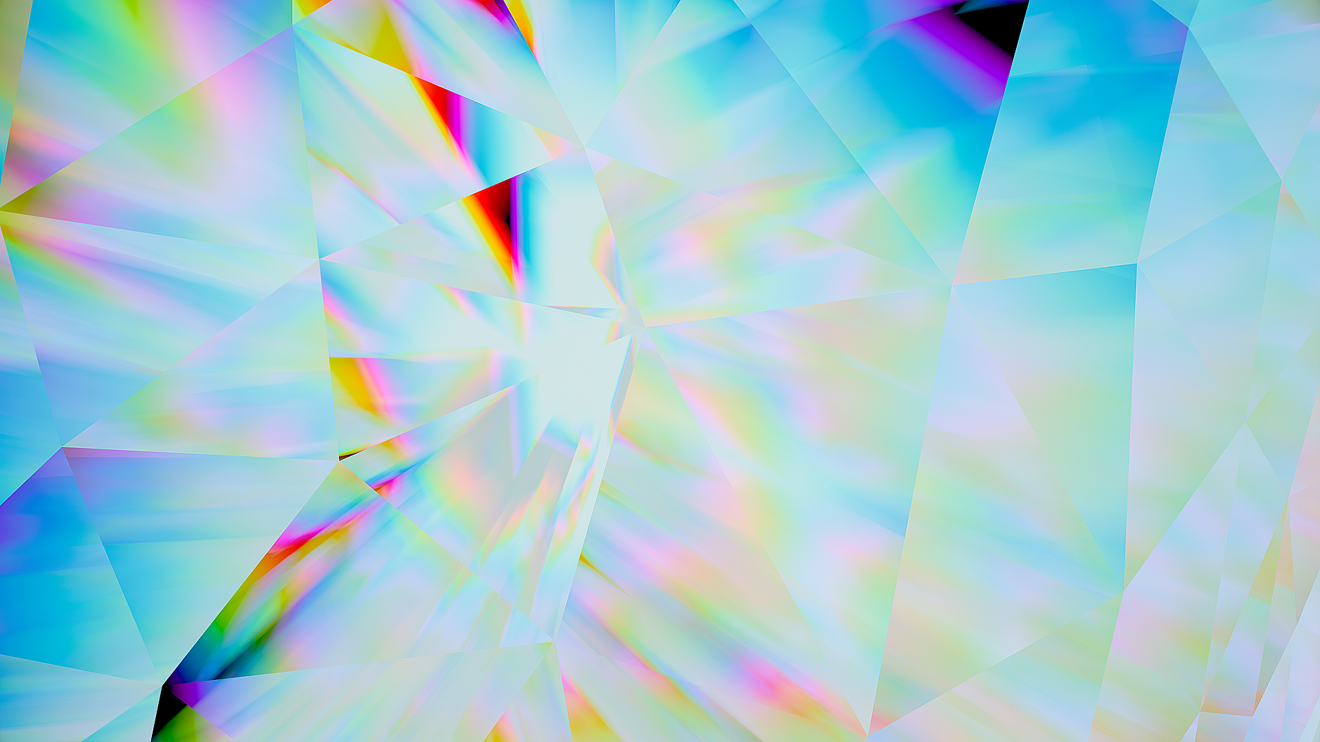 General 1920x1080 abstract Refraction digital art shapes cyan
